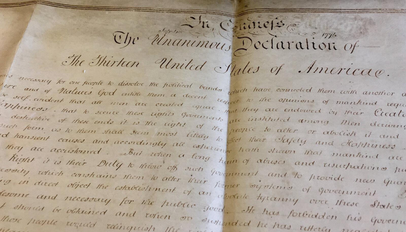 Ameerika Ühendriikide iseseisvusdeklaratsioon