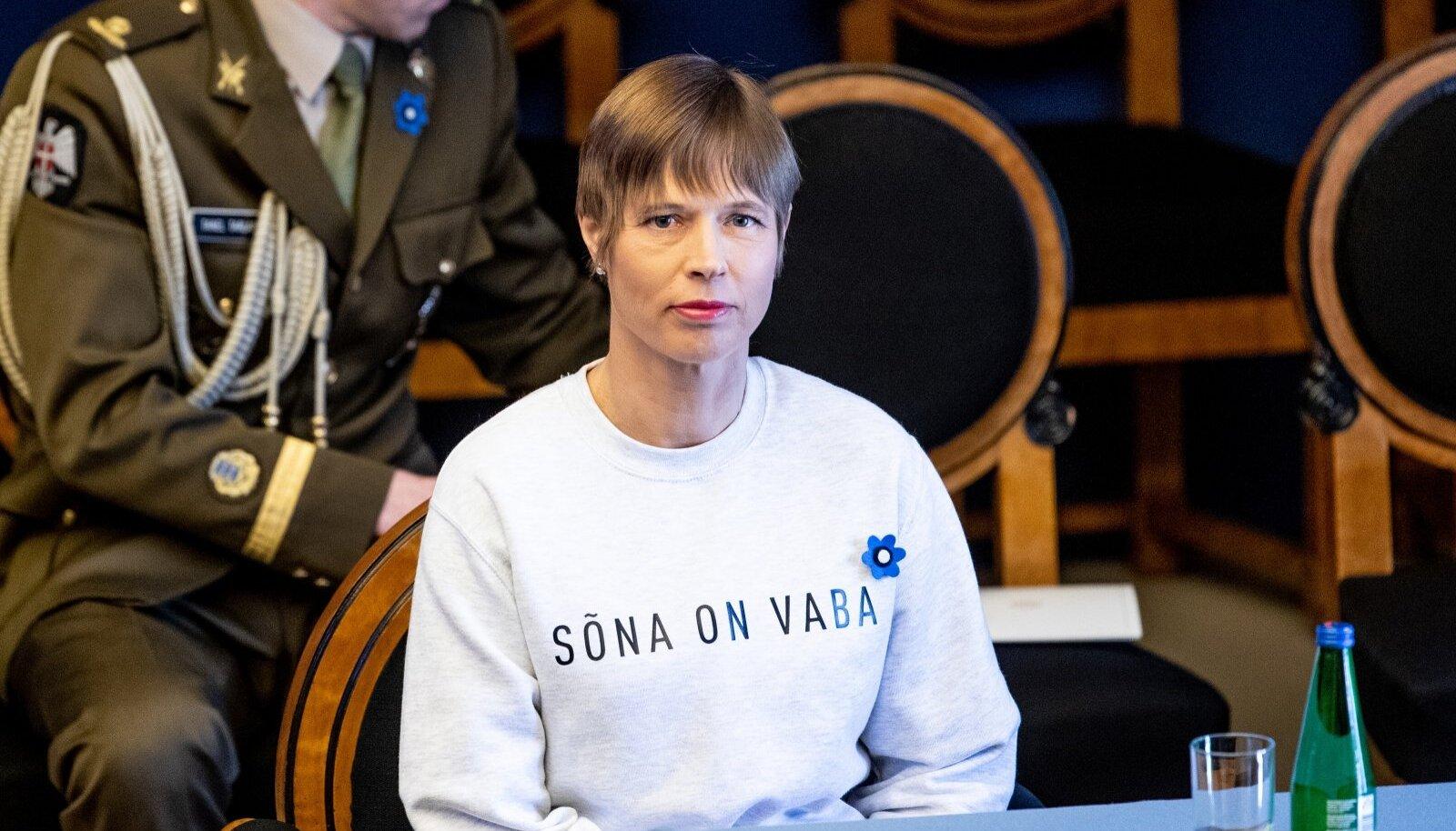 President Kersti Kaljulaid päeval, mil valitsus ametivande andis.