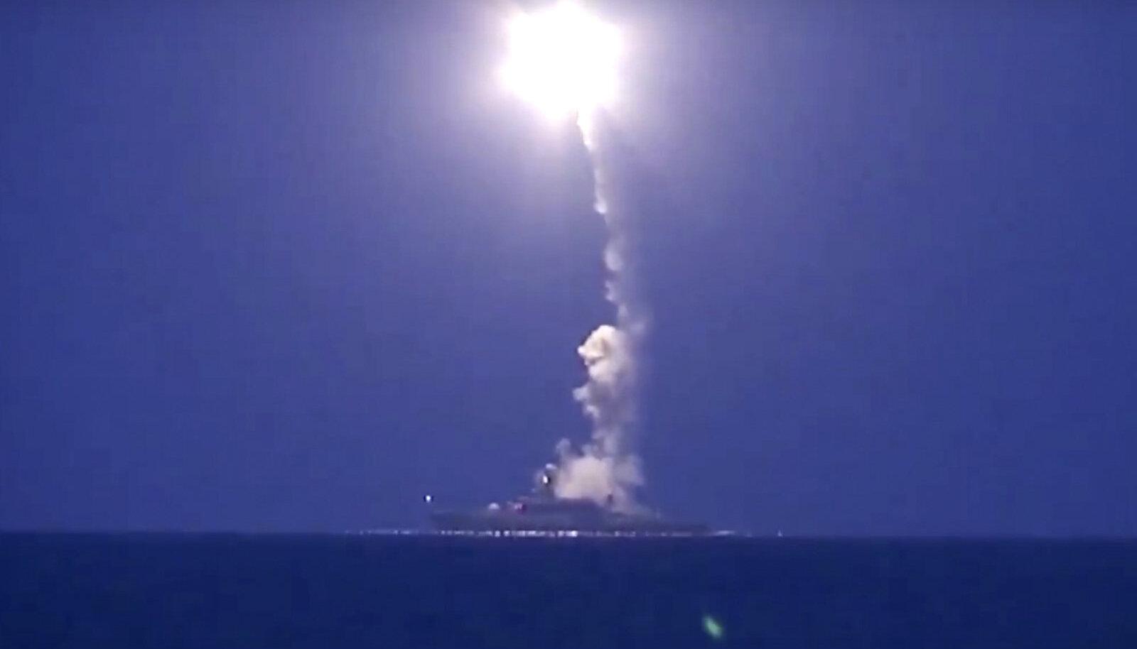 Tiibraketi start Vene sõjalaevalt Kaspia merel.