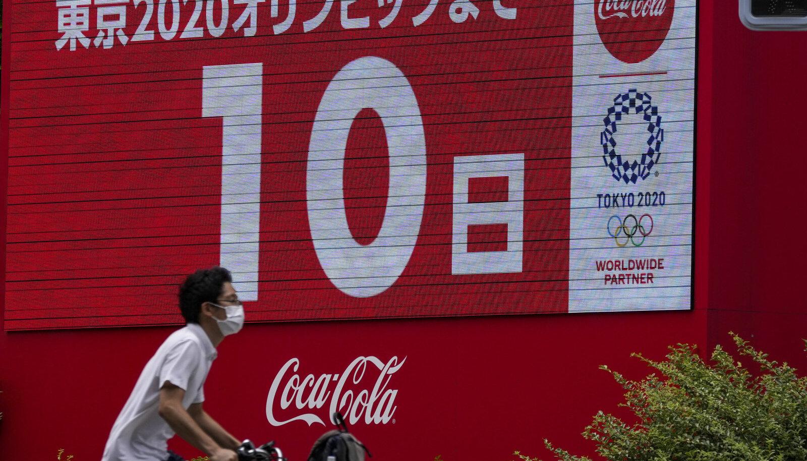 Ekraanid olümpialinnas tuletavad Tokyo elanikele meelde, et suve suursündmuse alguseni on jäänud 10 päeva.