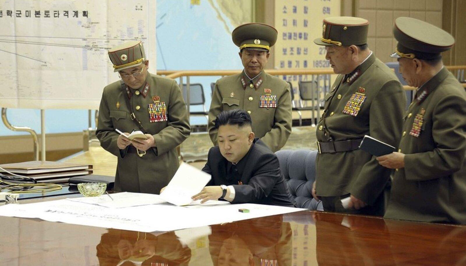 Põhja-Korea rünnakuplaan (üleval vasakul)