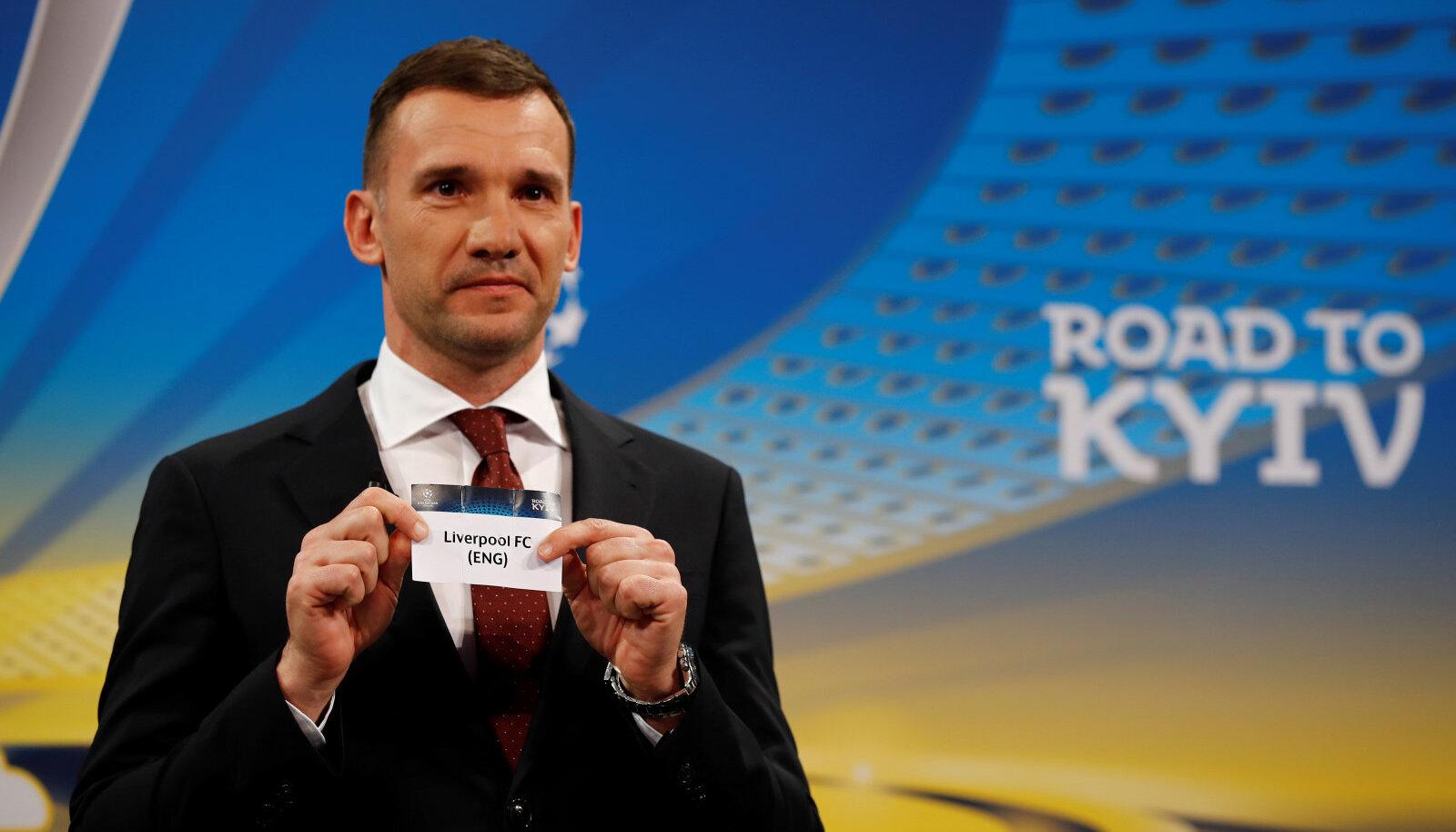 Andrei Ševtšenko tõmbas loosikausist Liverpoolile vastaseks Roma