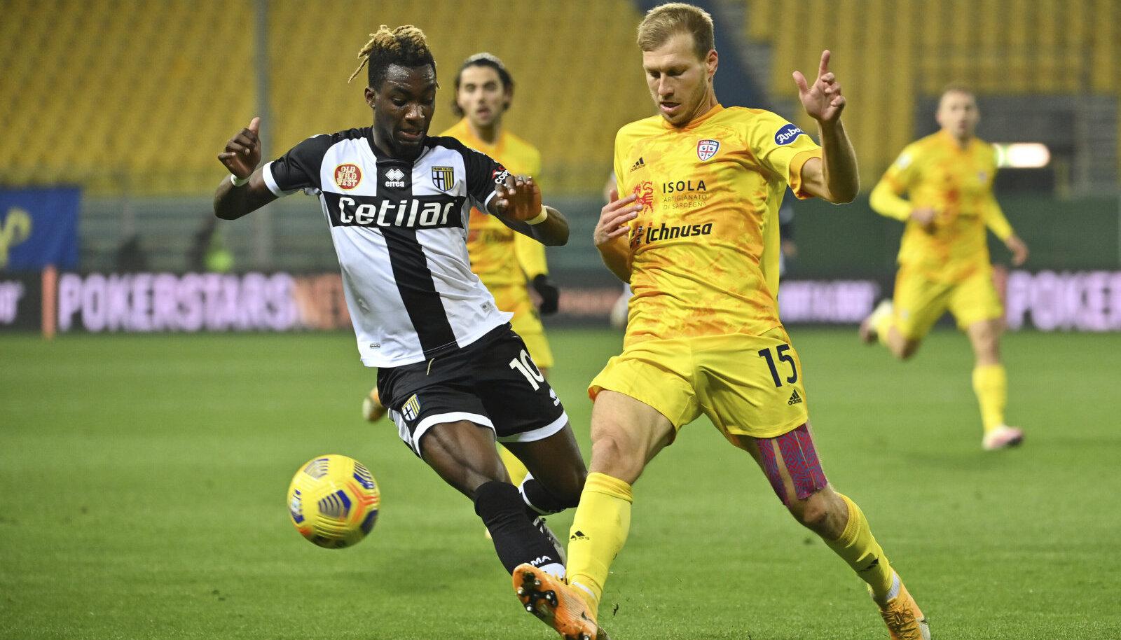 Ragnar Klavan 16. detsembril 2020 mängus Parmaga