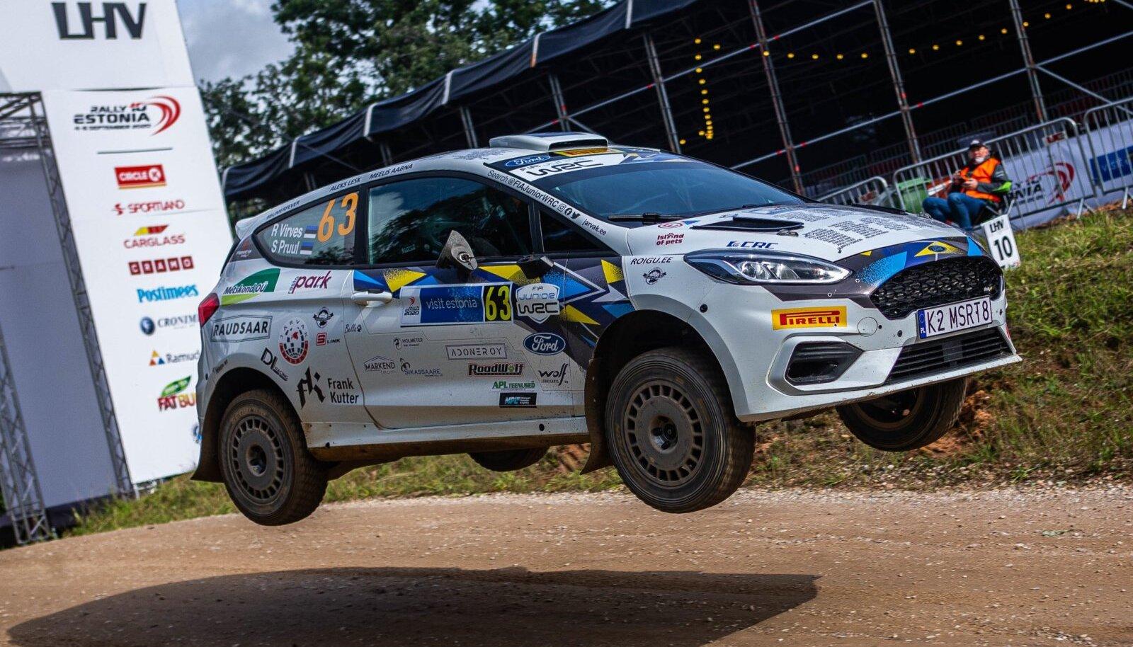 Robert Virves sai JWRC-klassis Eesti MM-etapil kolmanda koha.