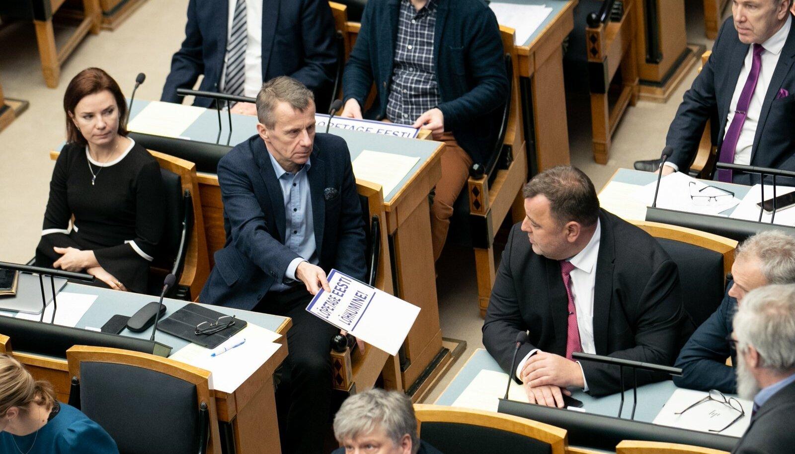 Pensionireformi hääletus riigikogus