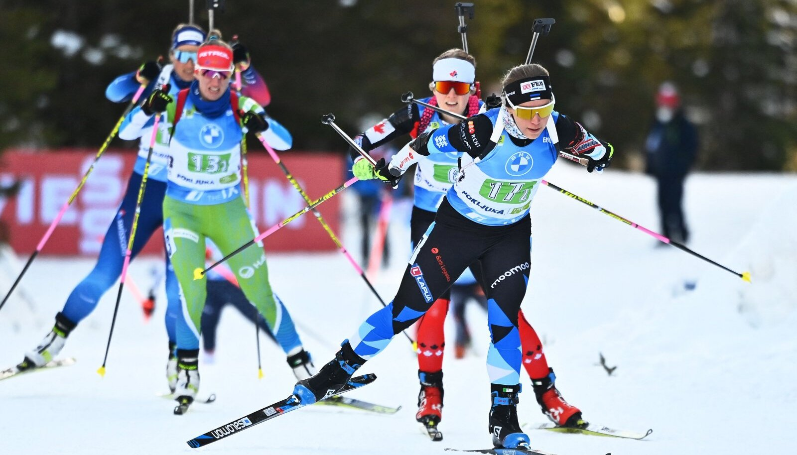 Johanna Talihärm (nr 17) tänasel võistlusel.