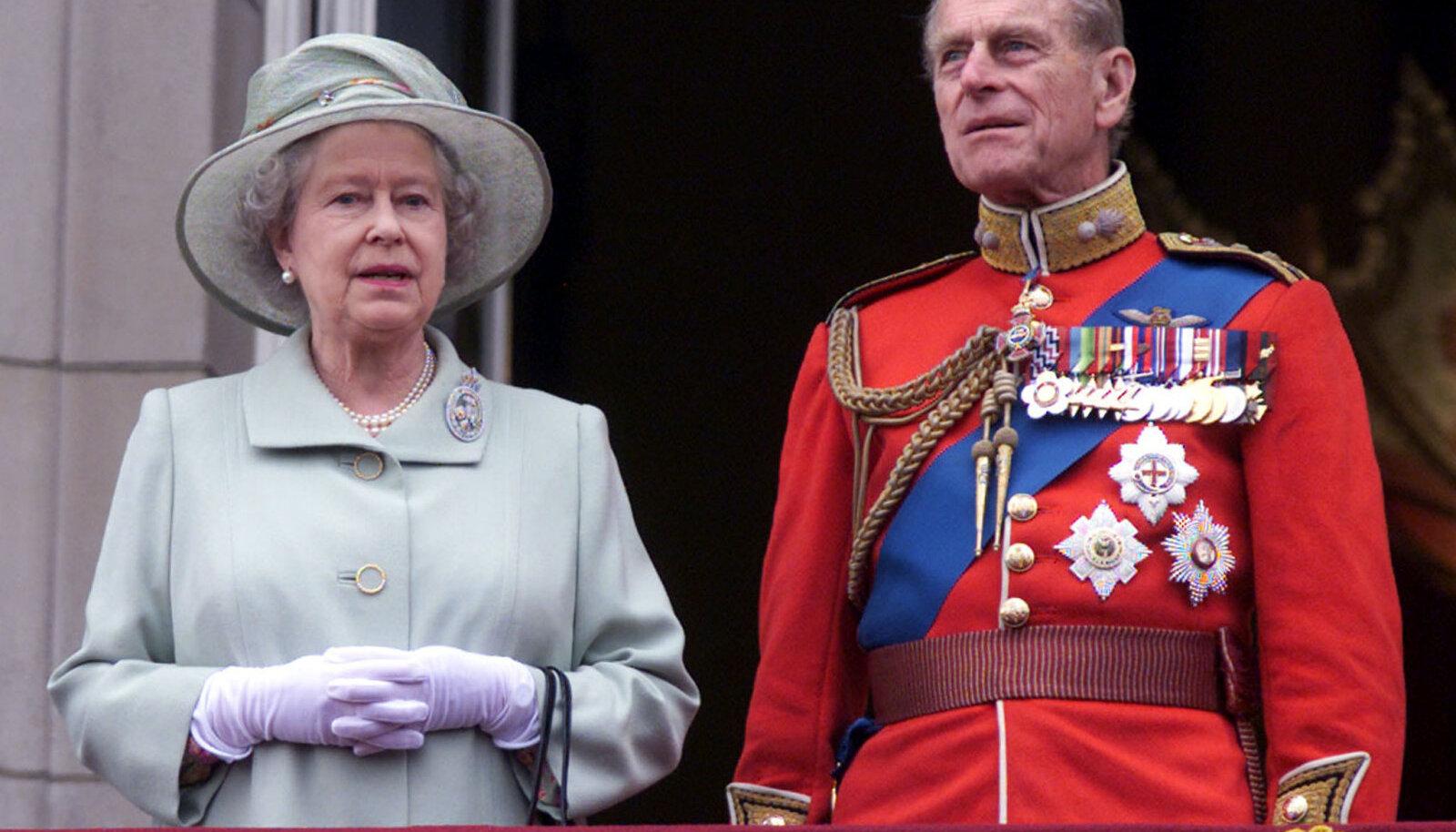 Kuninganna Elizabeth II ja prints Philip.