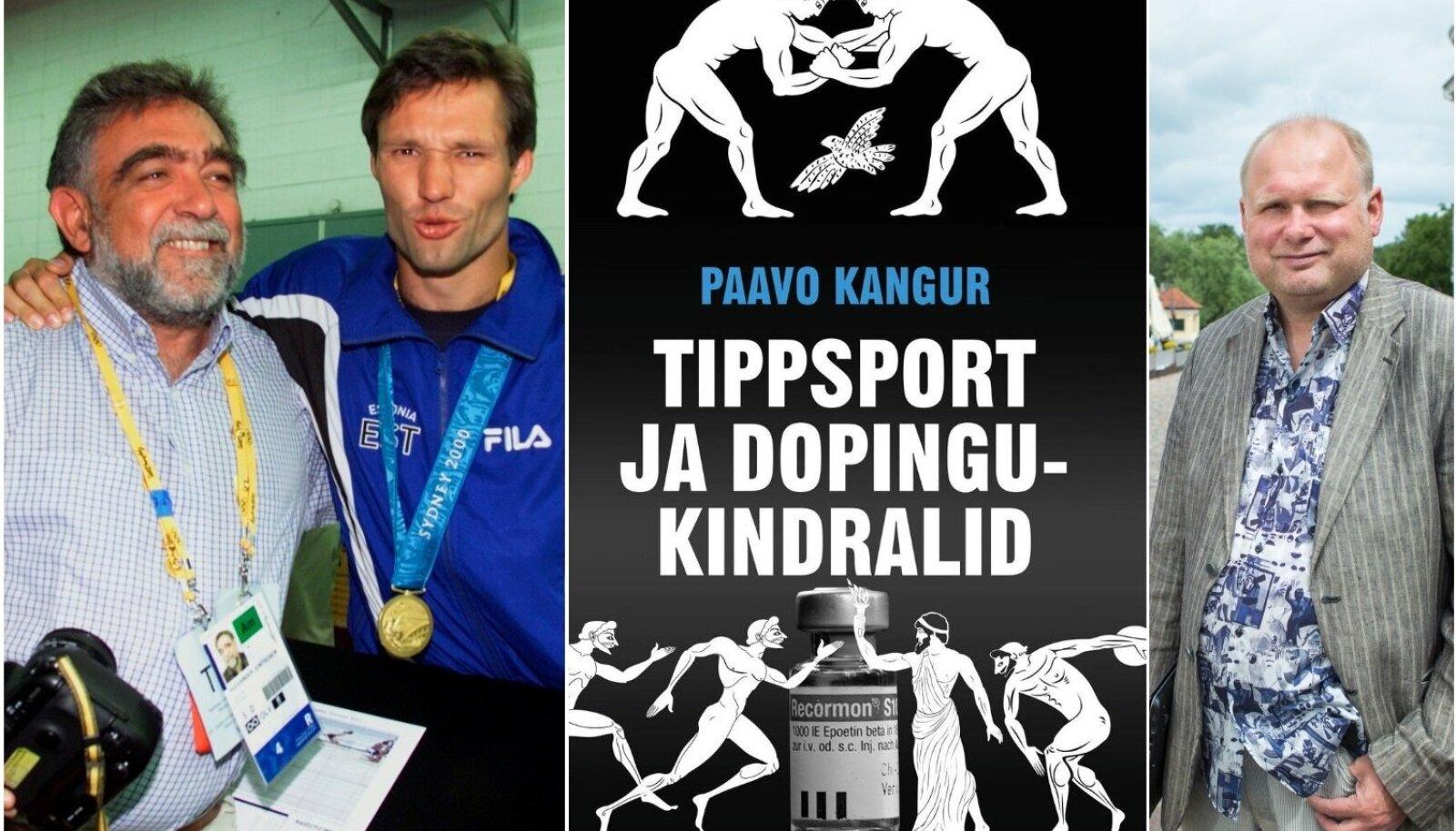 Erki Nool ja Alexander Jontschew tähistavad Sydney olümpiavõitu. Miks leidis see koha Paavo Kanguri (paremal) värskes raamatus?