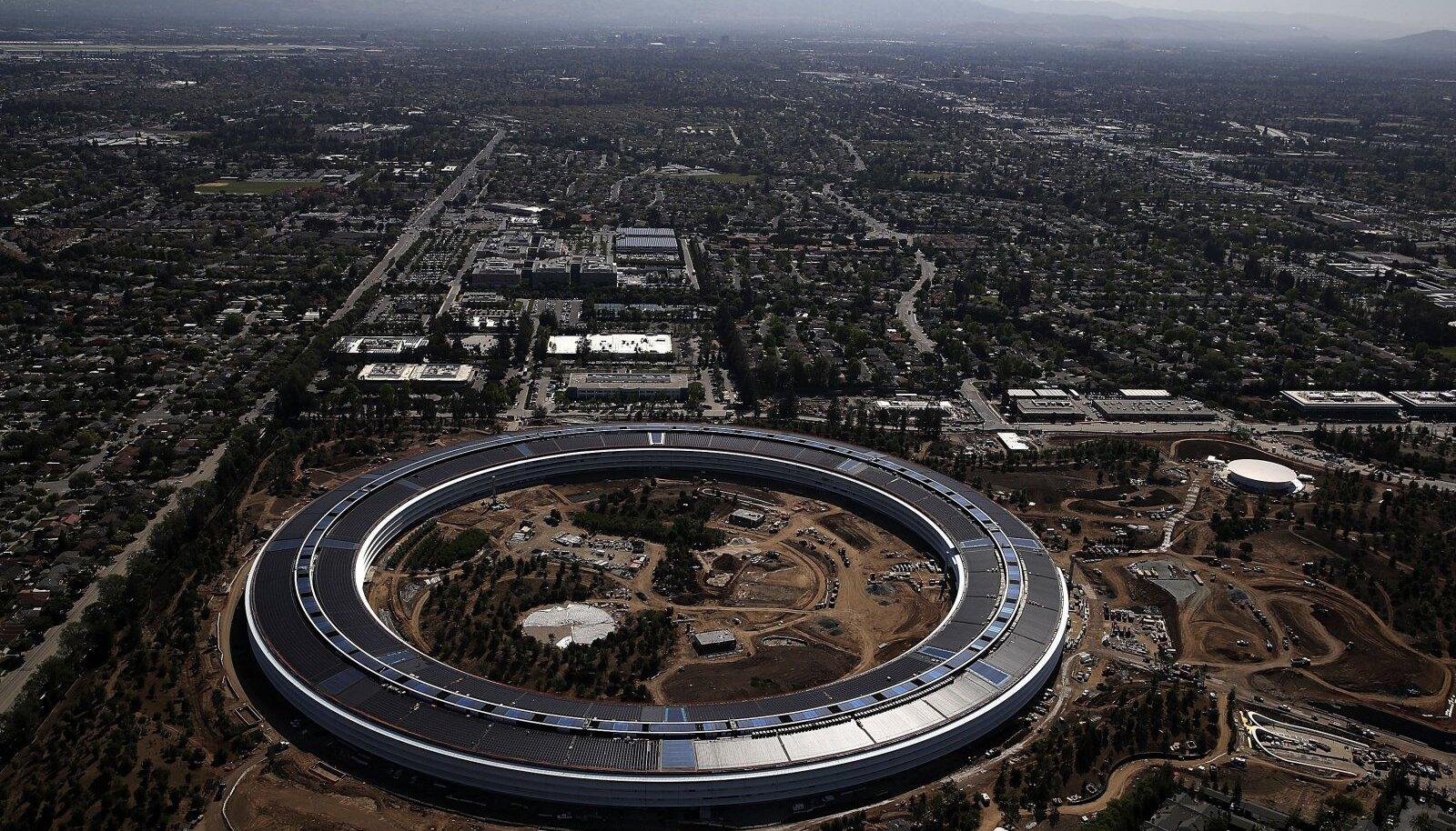 Apple`i uus peakorter eelmisel aastal ehitustööde ajal.