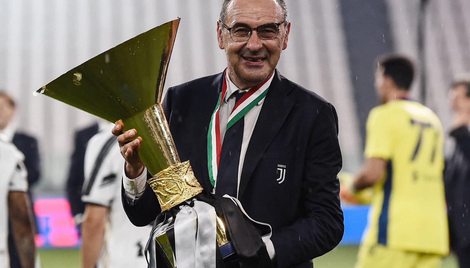 Maurizio Sarri viis mullu Juventuse Itaalia meistriks