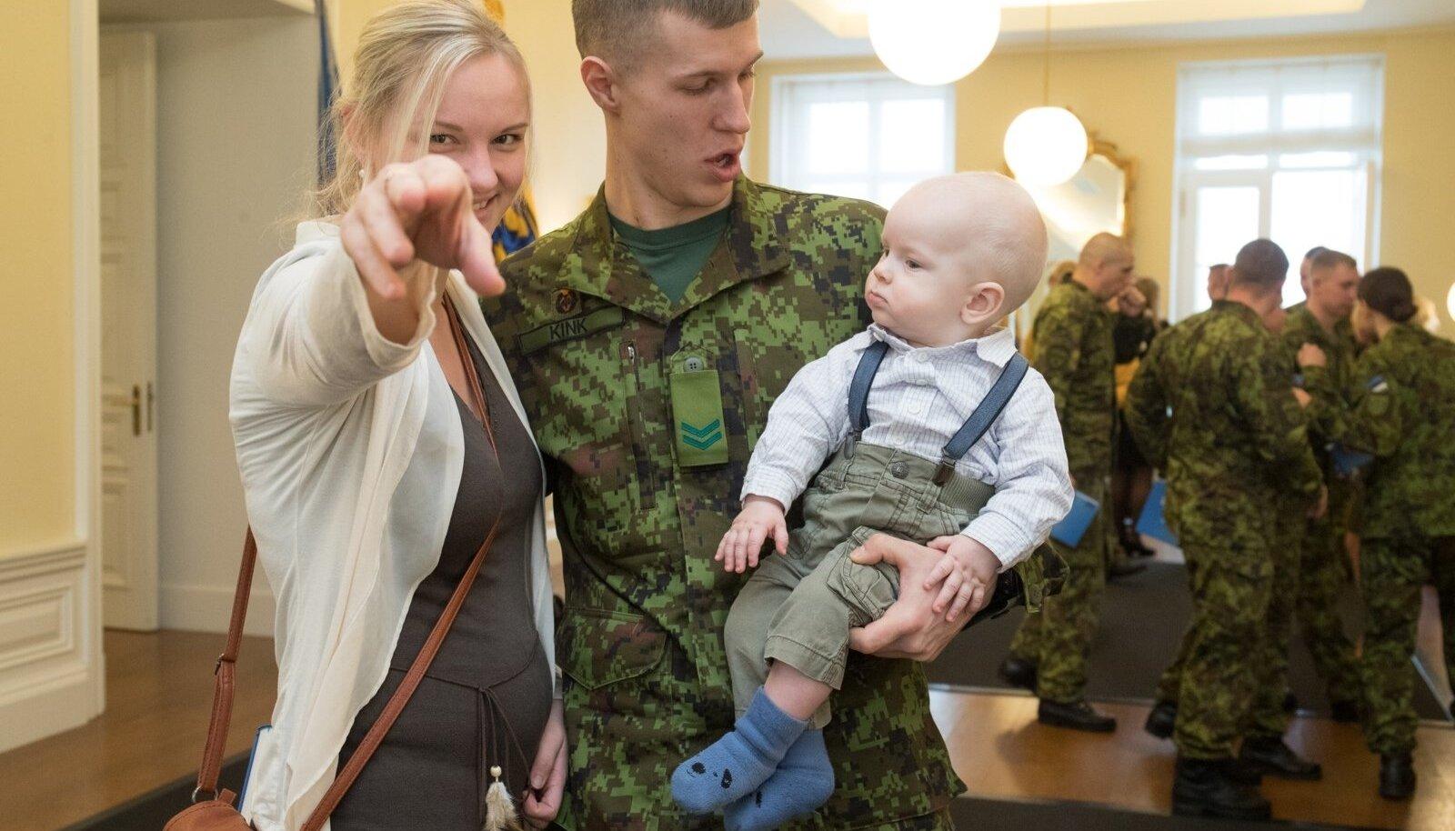 Missioonil käinud kaitseväelased Stenbockis