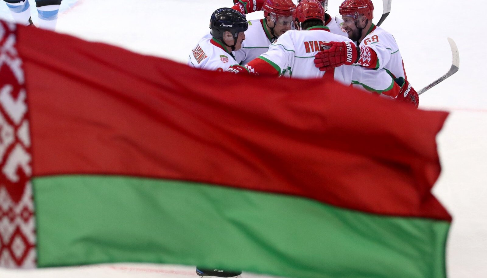 Belarus President Lukashenko takes part in 16th Christmas International Amateur Ice Hockey Tournament