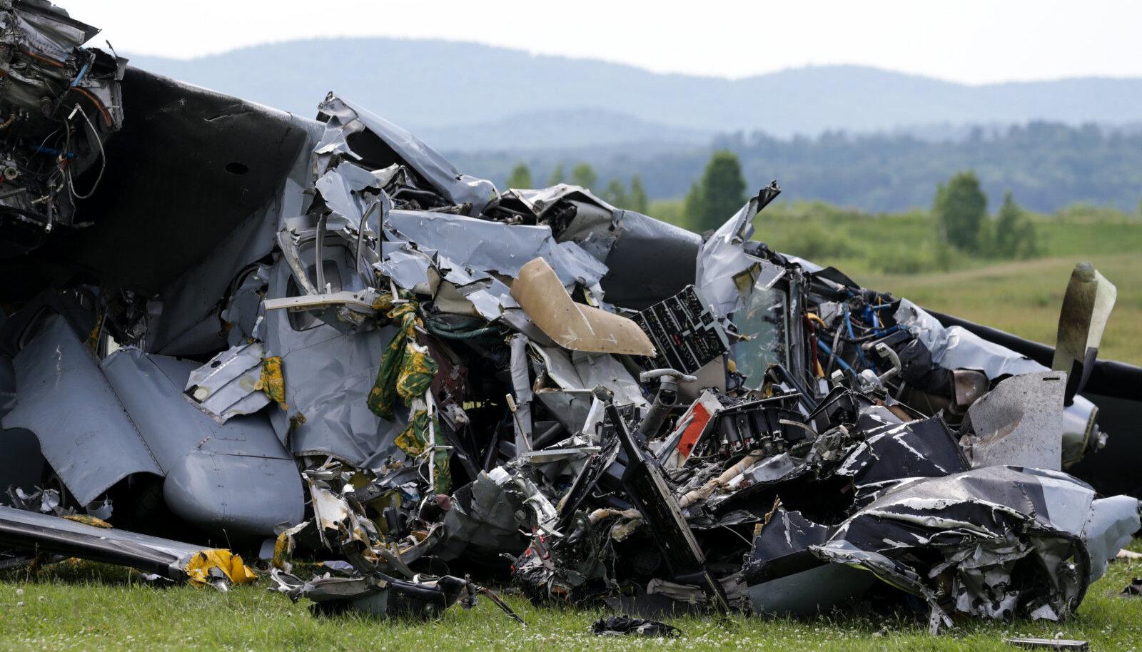 Siberis alla kukkunud lennuki rusud.