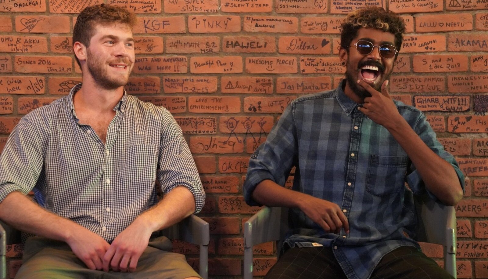 Vumonicu asutajad ameeriklane Gabriel Appleton (vasakul) ja hindu Aravind Raju