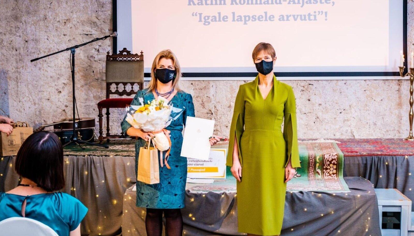 Missiooniinimene 2020 ja president. Foto: Mattias Tammet/presidendi kantselei