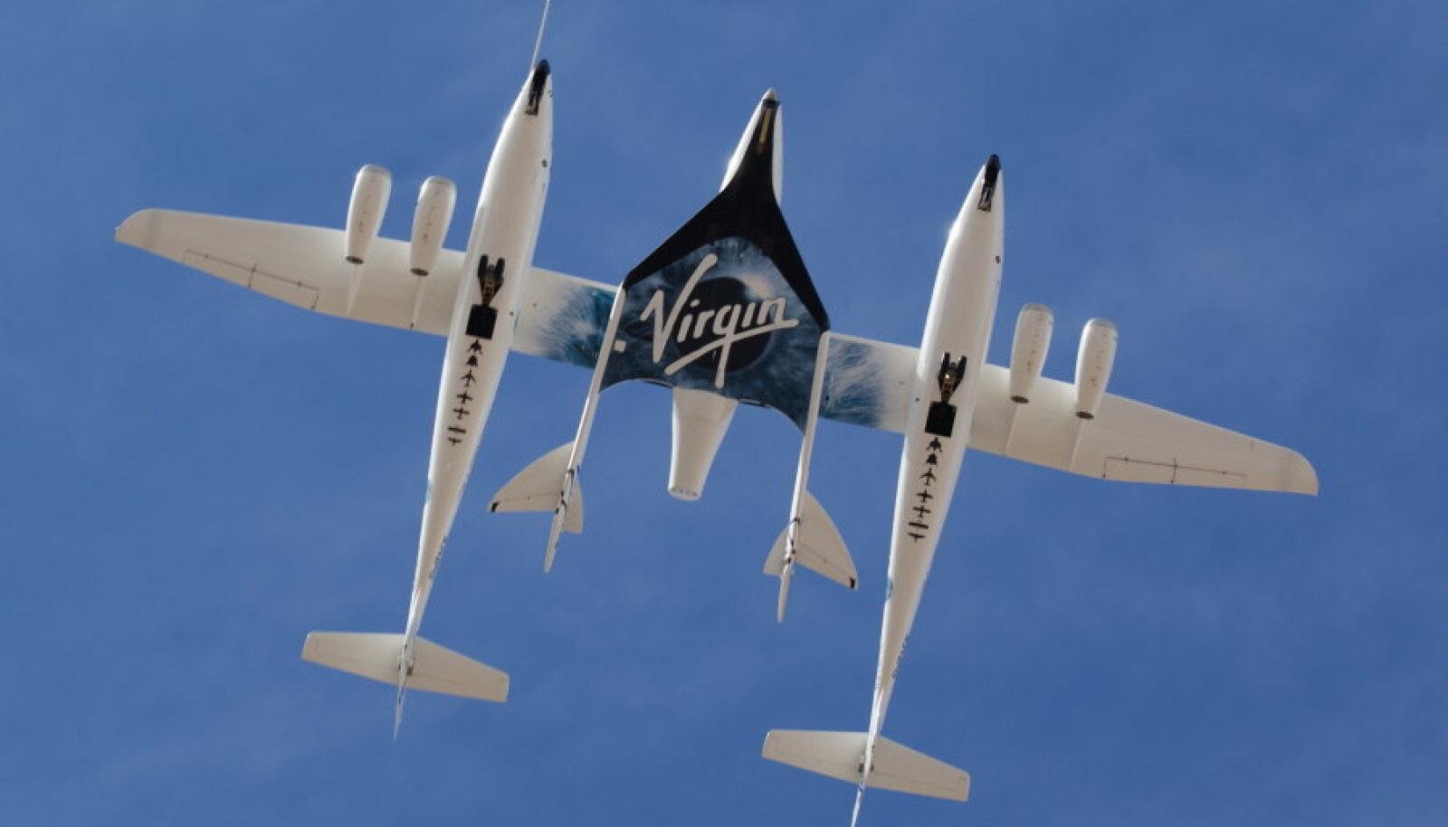 WhiteKnight Two kandmas kosmoselennukit SpaceShipTwo