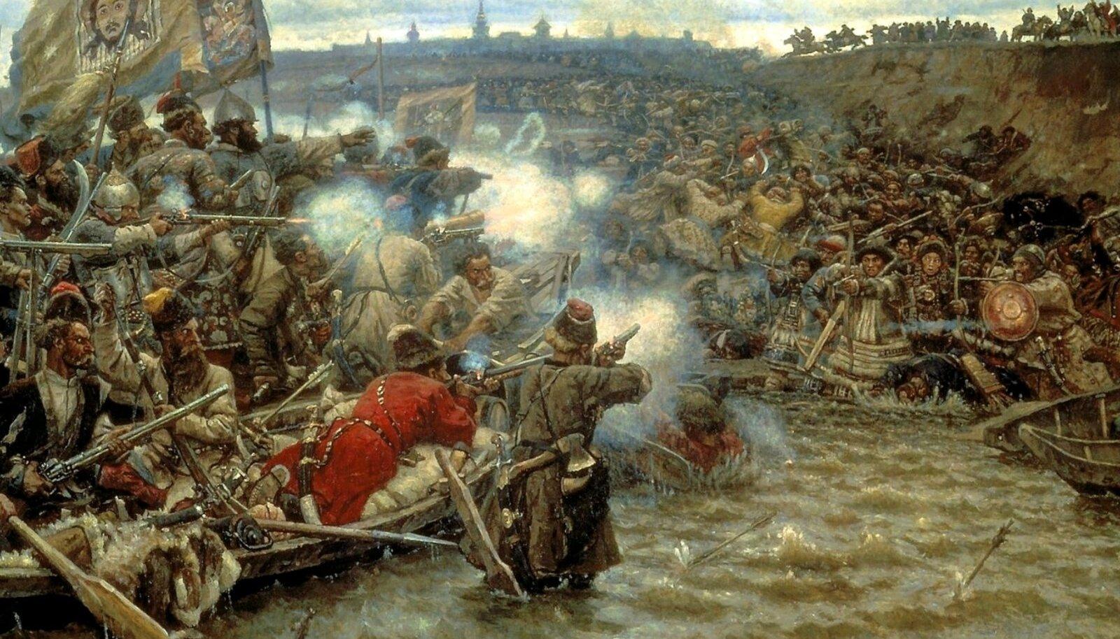 Siberi alistajaks loetakse kasakat Jermaki, kes alistas 1598 Siberi khaaniriigi. Tegelikult jätkus Siberi allutamine veel järgmistel sajanditel ja selles lõid kaasa ka eestlased