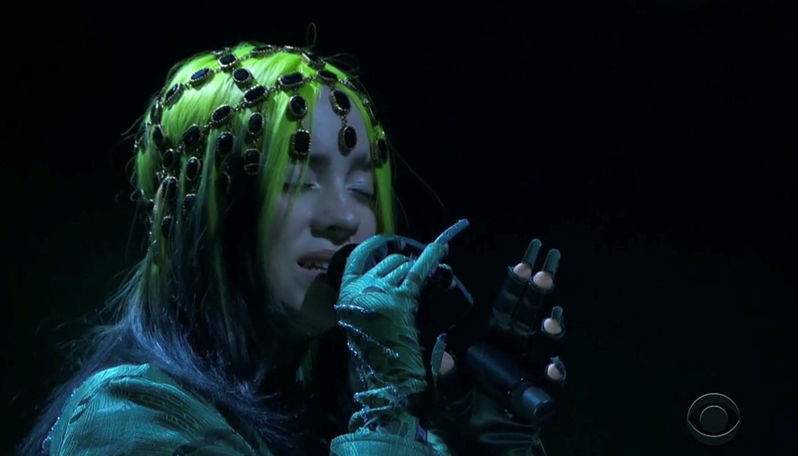 Billie Eilish märtsi keskel Grammyde tseremoonial esinemas