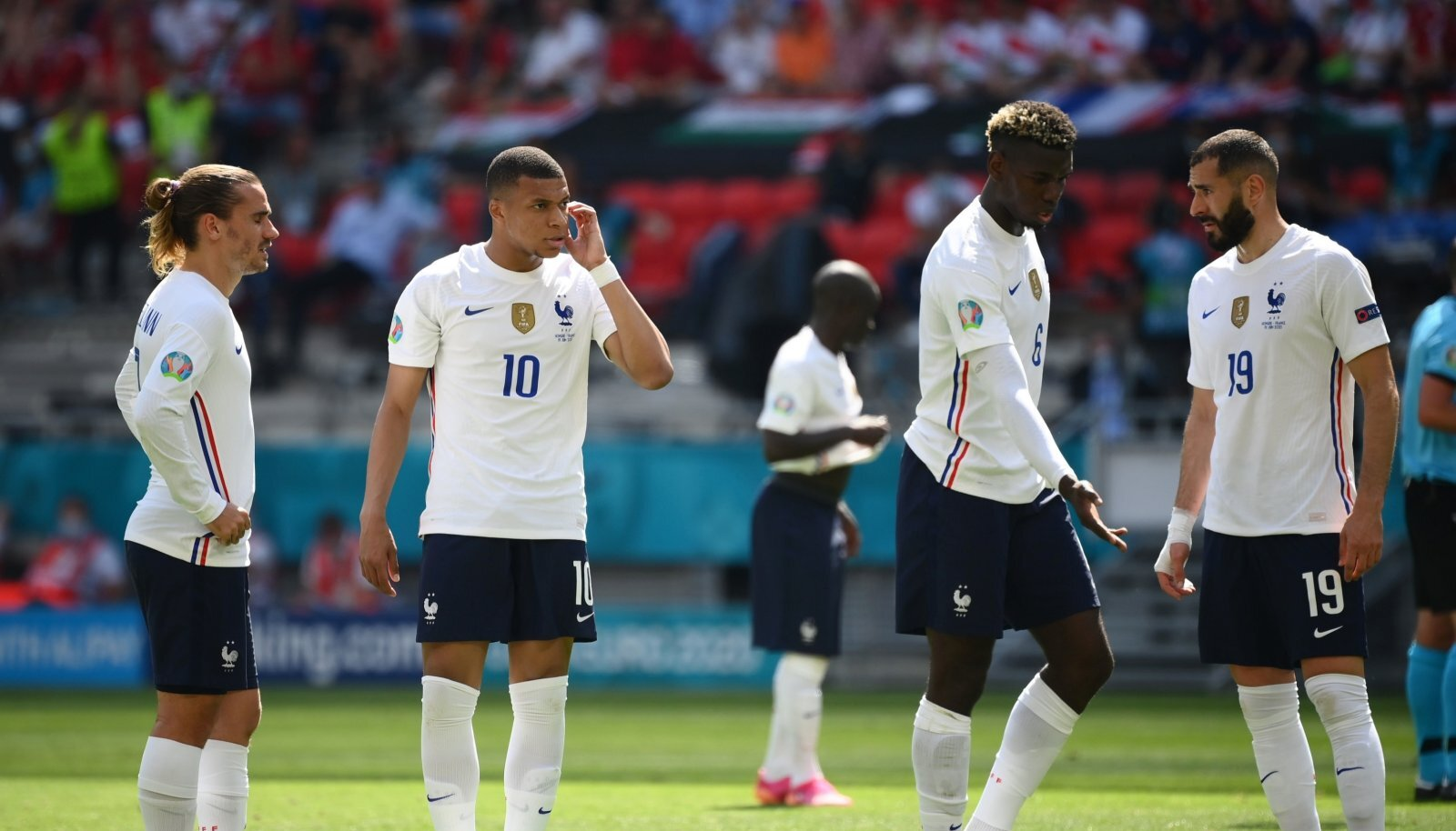 Prantsusmaa superstaarid (vasakult) Antoine Griezmann, Kylian Mbappé, Paul Pogba ja Karim Benzema tõestasid, et ka nemad on tavalised inimesed ega tee kõike ideaalselt.