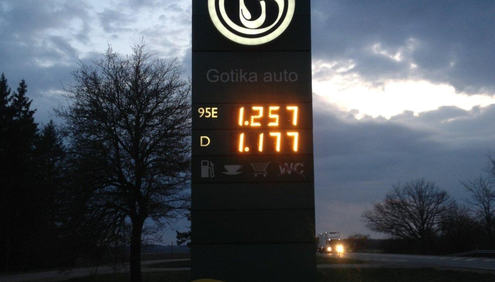 Kütusehind Lätis