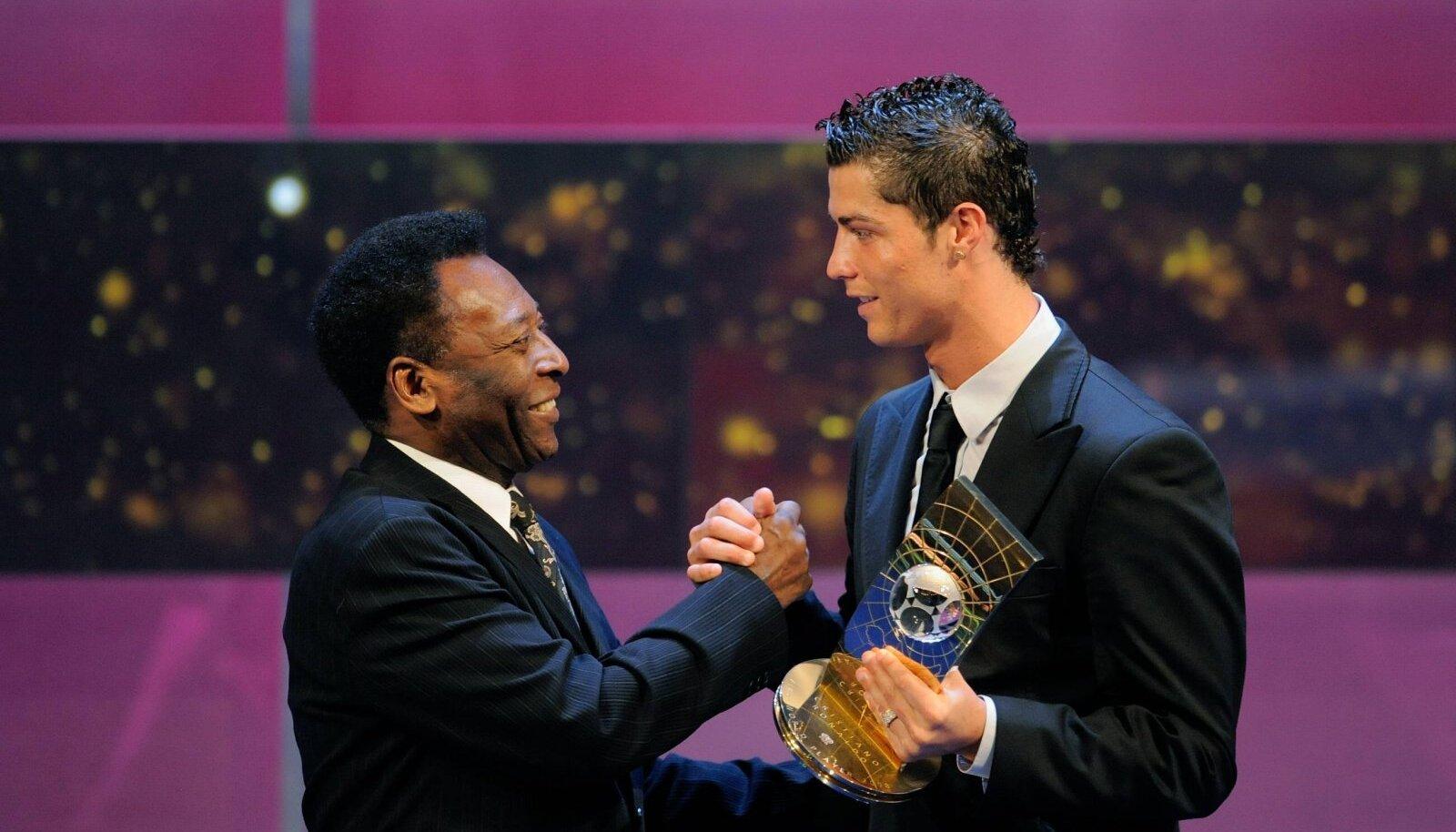 Pele ja Cristiano Ronaldo 2008. aastal