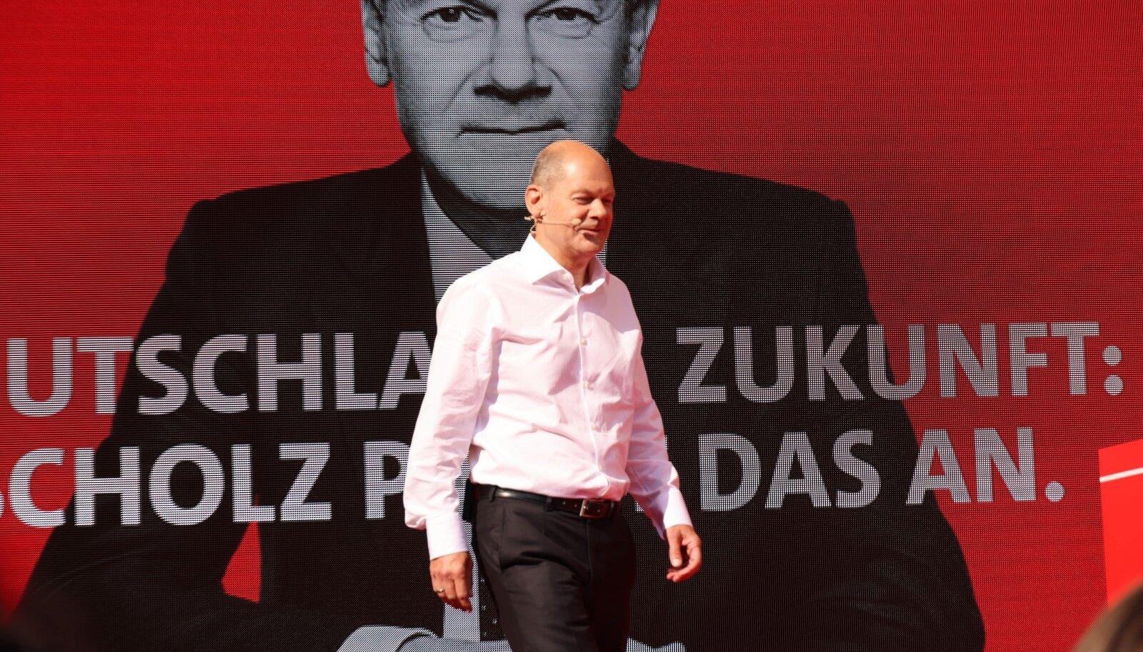 Olaf Scholz laupäevasel kampaaniasündmusel Göttingenis