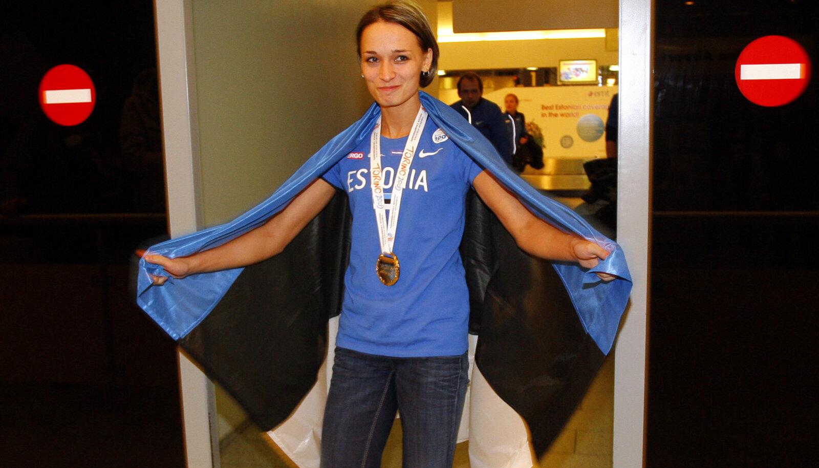 Euroopa sisemeistri Ksenija Balta vastuvõtt 2009. aastal.