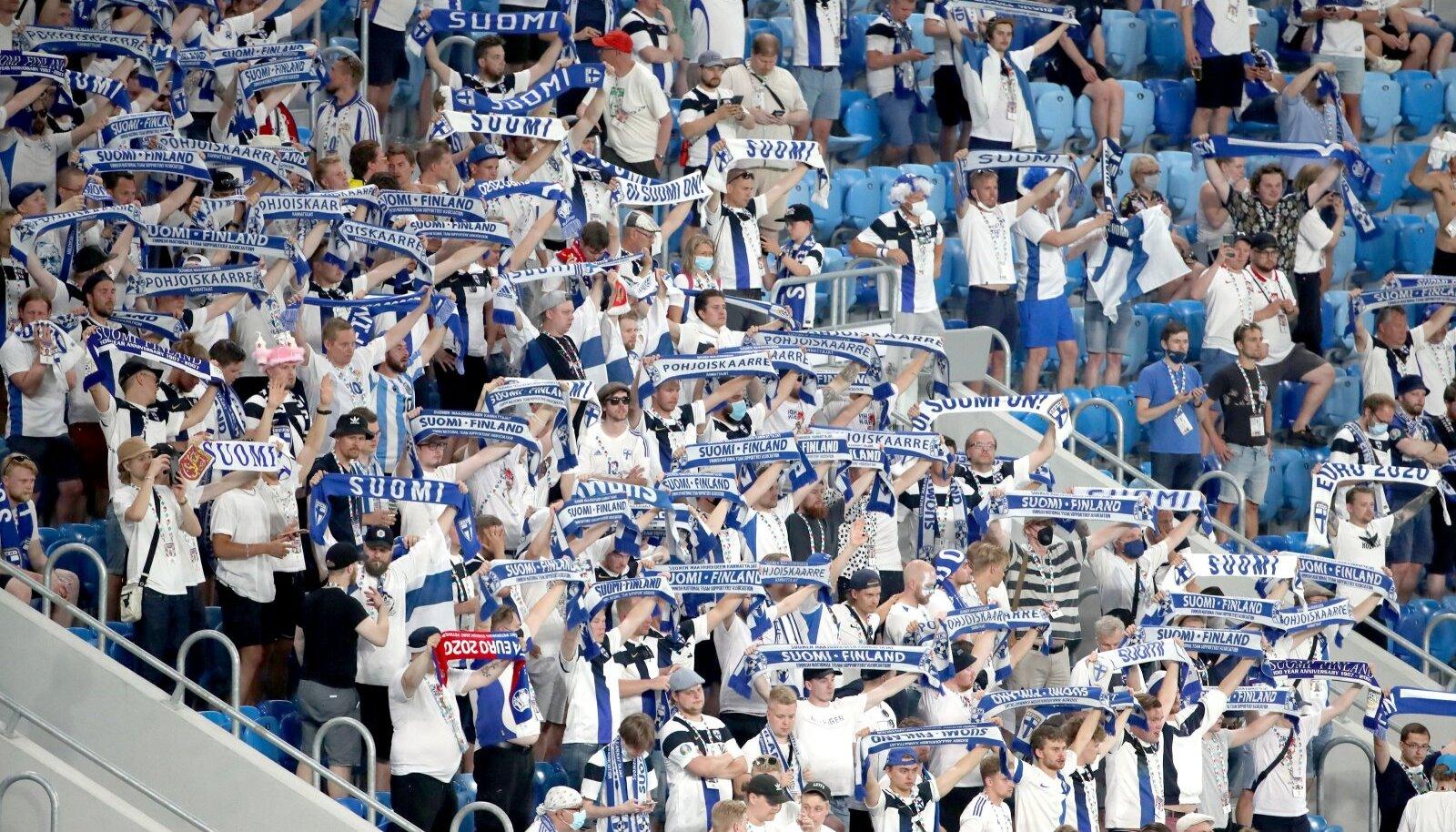 UEFA Euro 2020: fännid 21. juunil Peterburis Soome – Belgia mängul