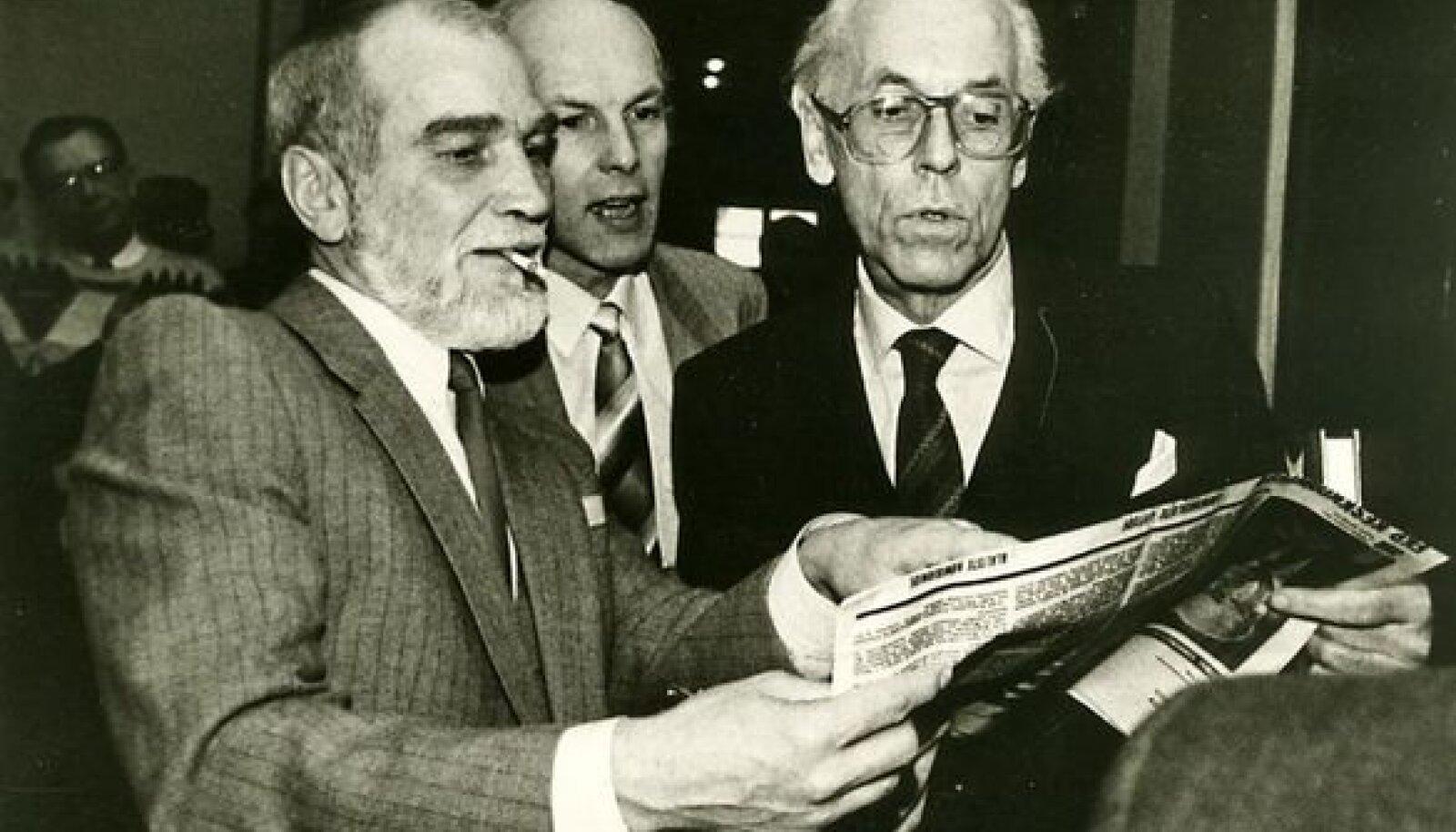 Mikiver, Jaama ja Meri loomeliitude pleenumil 1988