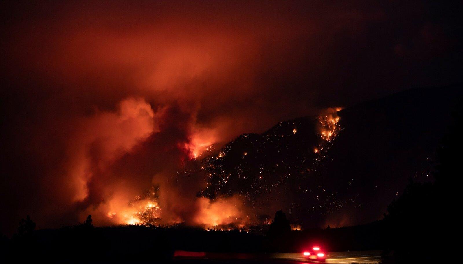 Kuumakuppel Kanada mägiküla Lyttoni kohal põhjustas ulatuslikke maastikupõlenguid.