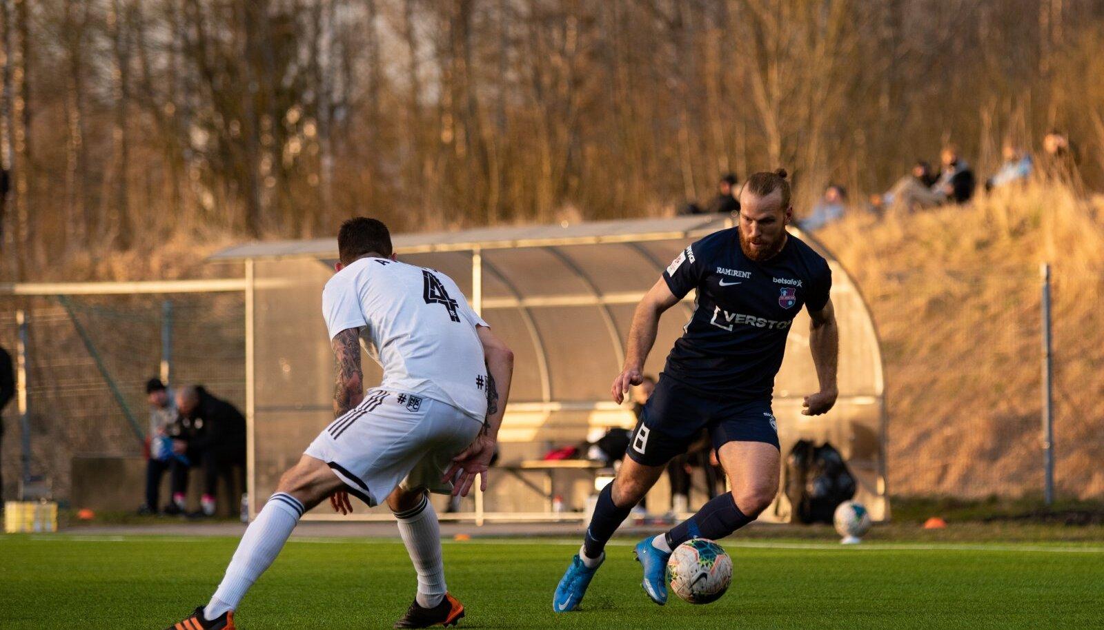 Henri Anier 21. aprillil mängus Nõmme Kalju vastu.