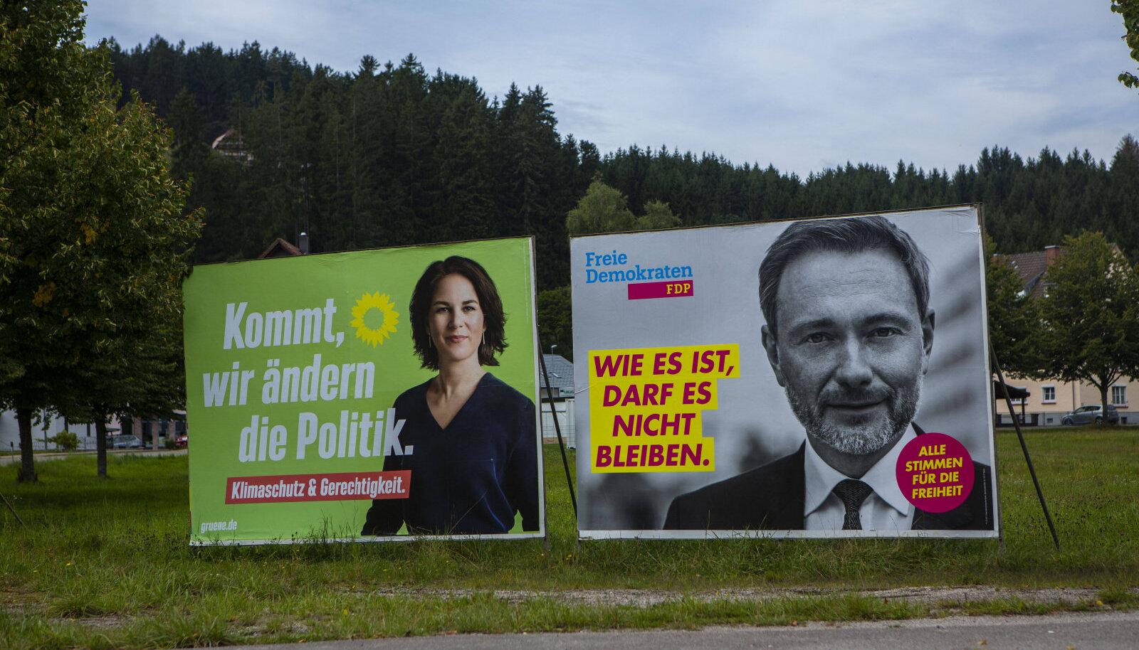 Kuni roheline Annalena Baerbock ja FDP juht Christian Lindner tülli ei pööra, on uue valitsuse võti nende käes.