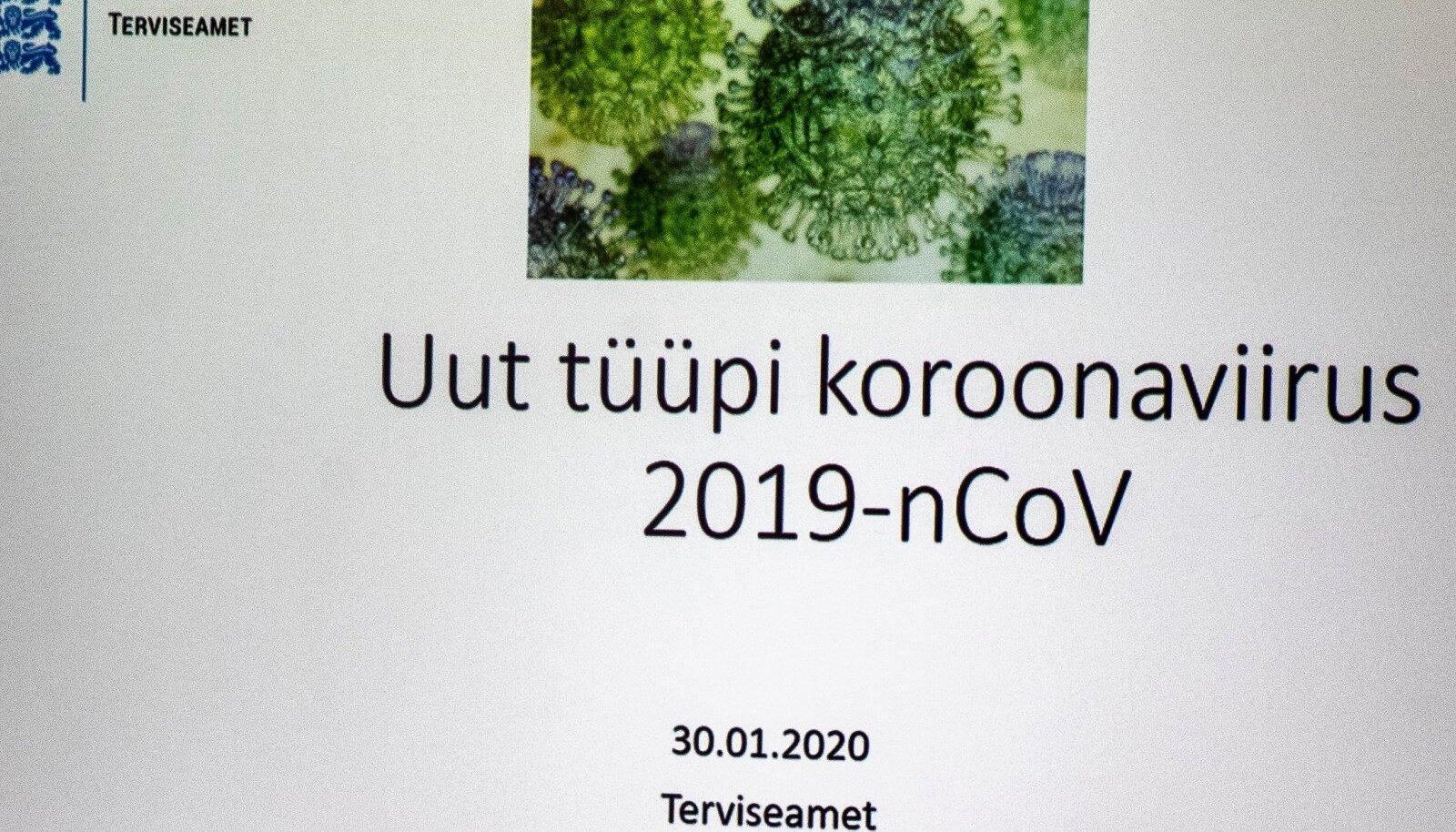 Terviseameti pressibriifing 30.01.2020