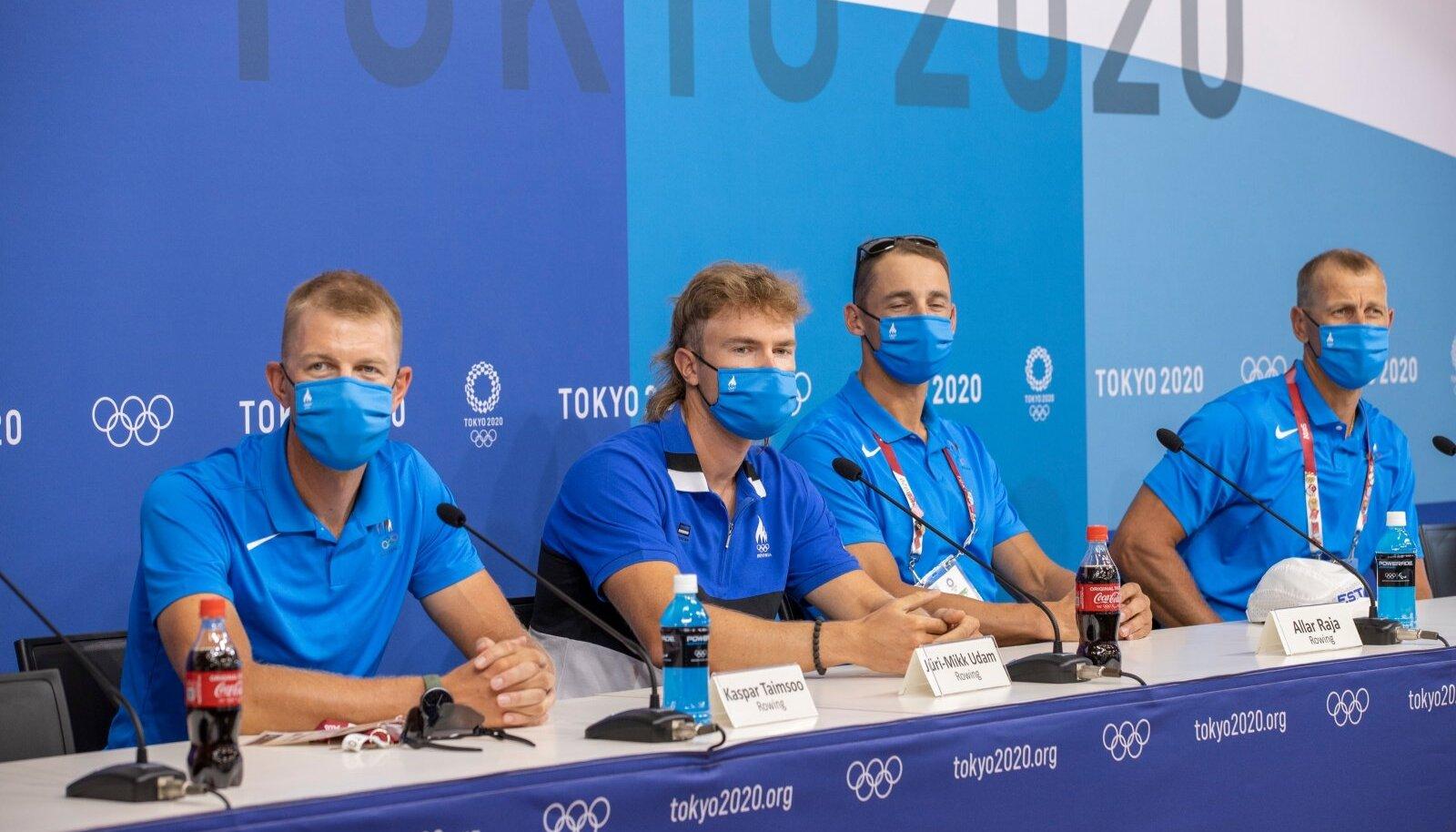 Eesti sõudjad pressikonverentsil