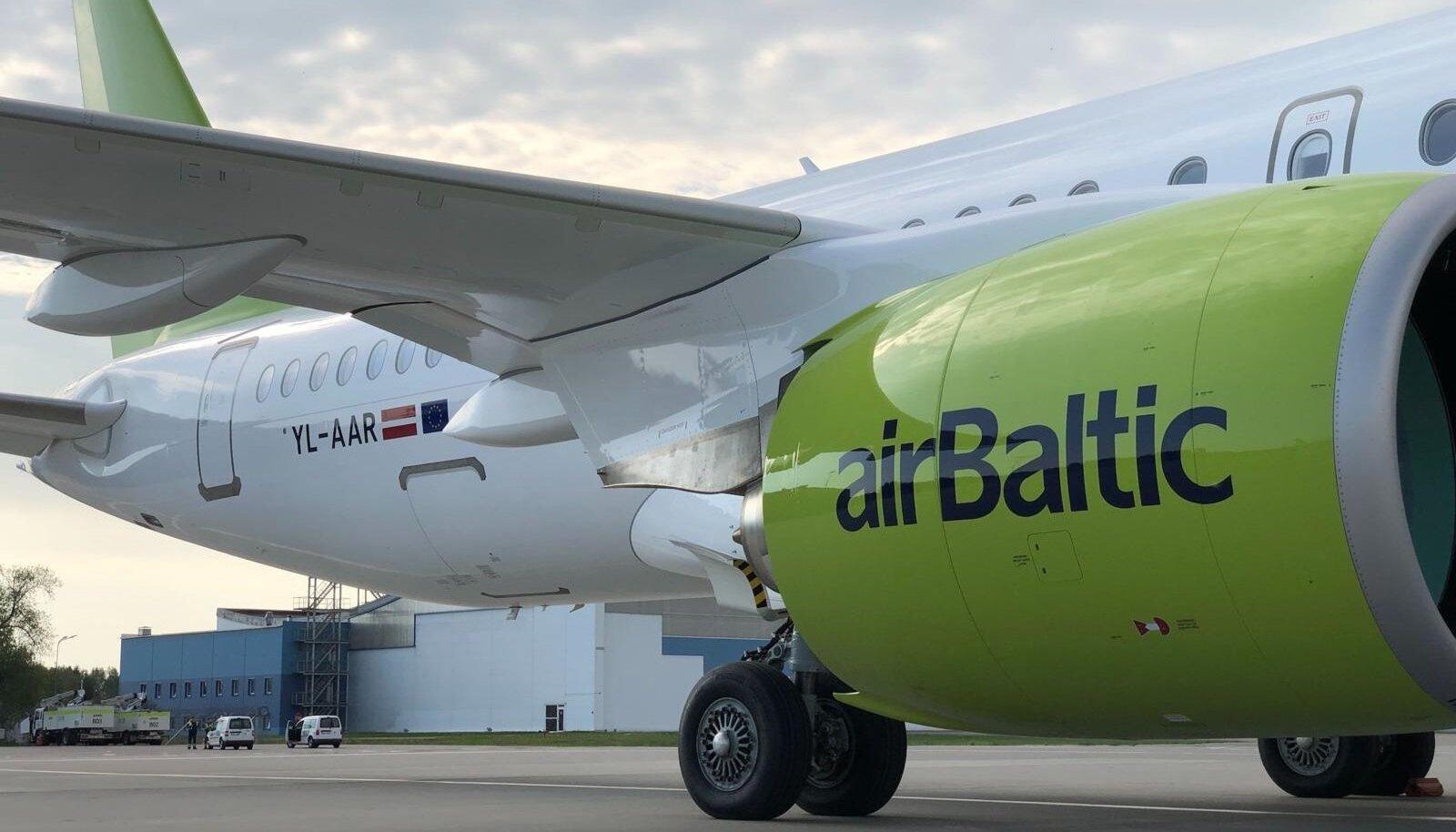 AirBalticu 18. Airbus A220-300 registreerimisnumbriga YL-AAR