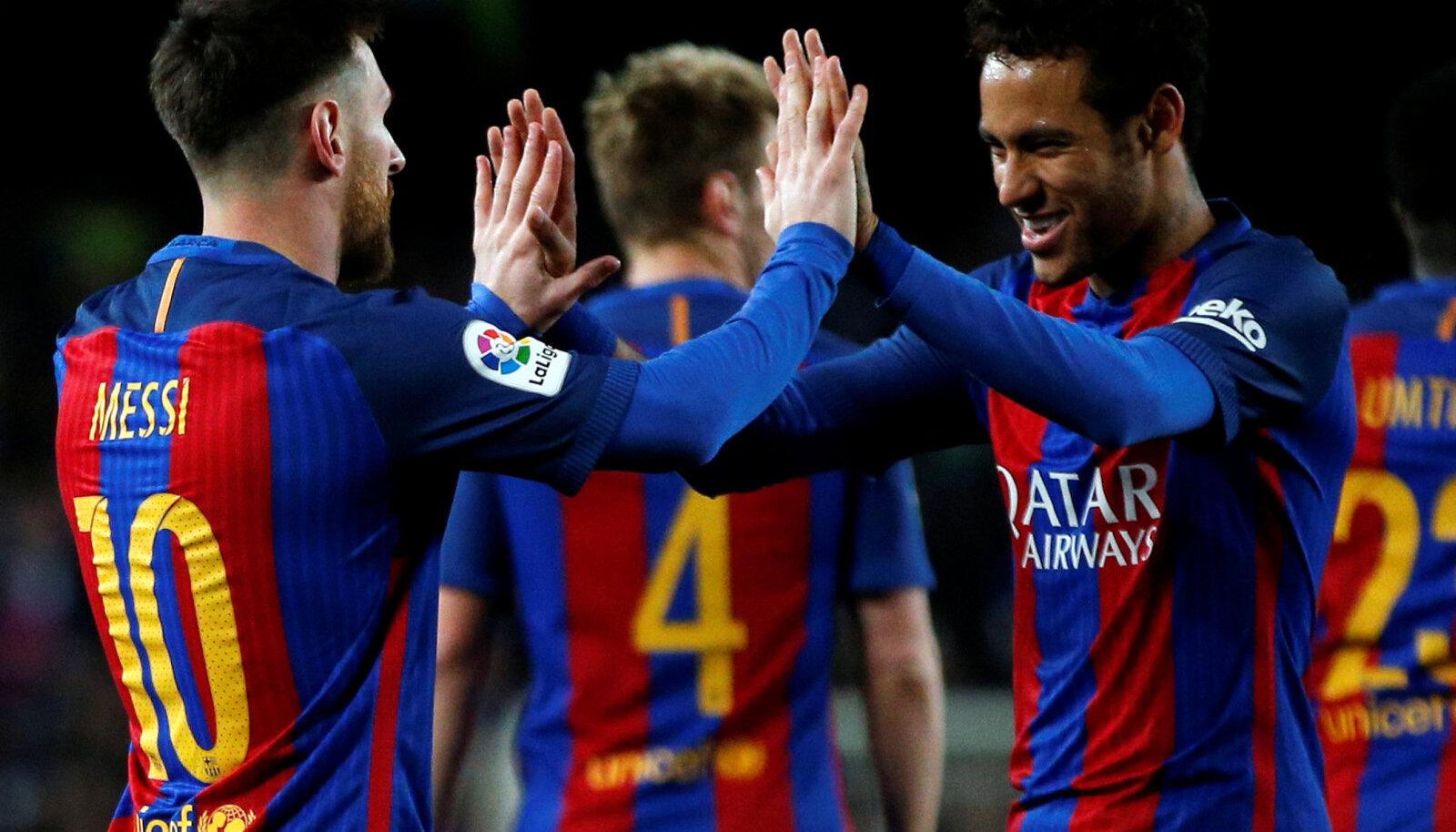 Lionel Messi ja Neymar Barcelona päevil