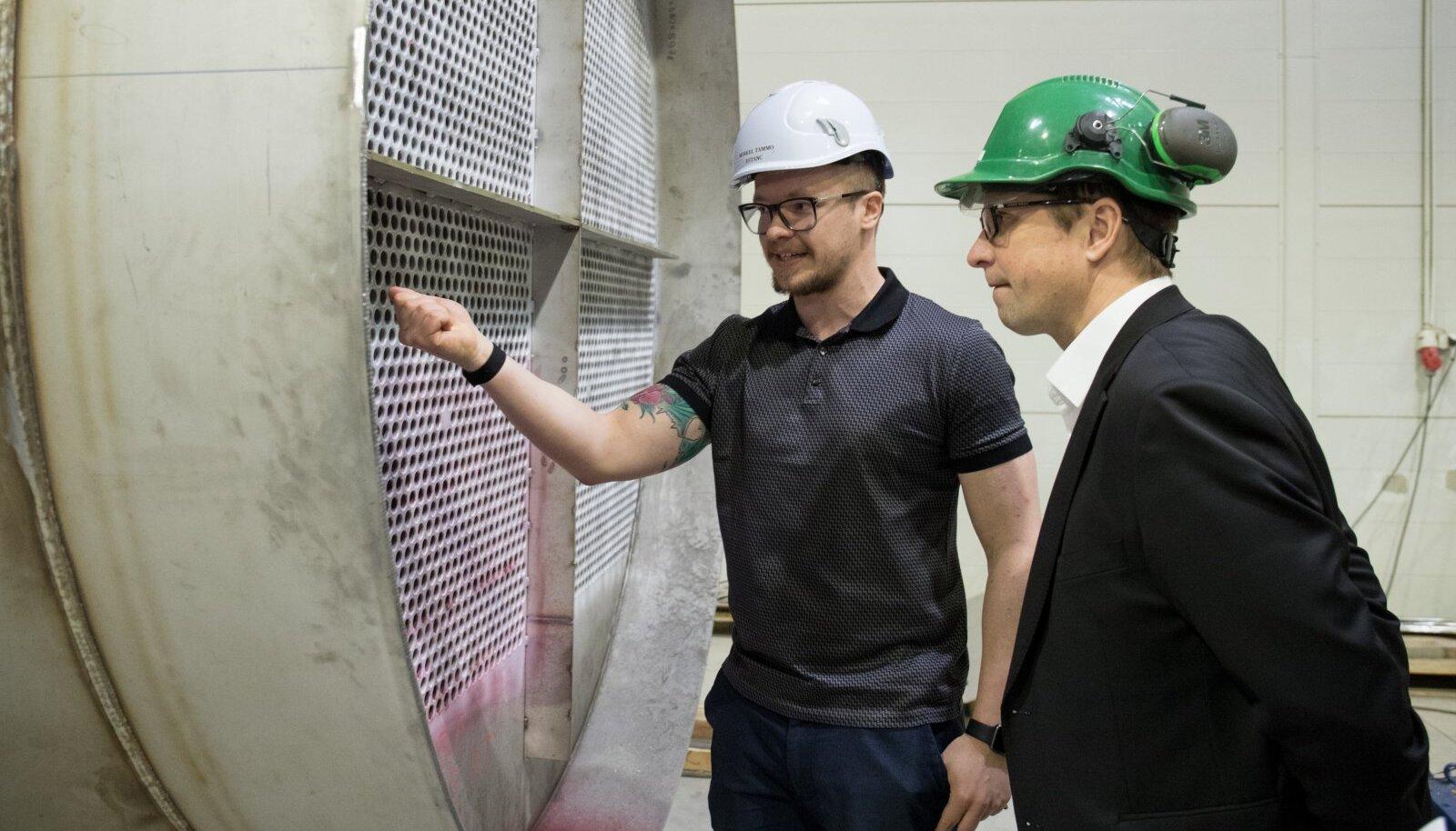 Pereettevõtte Estanc senine juht Mihkel Tammo (vasakul) lahkub ettevõttes rohetehnoloogiaid arendama.