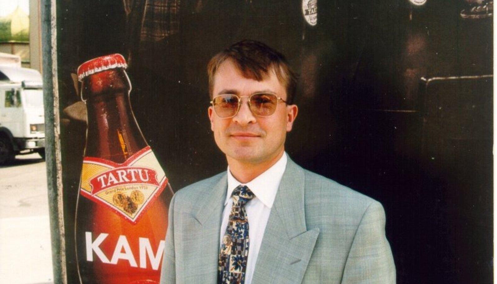 29. oktoober 1996Fotograaf: Sven ArbetTagid: Margus Linnamäe (Magnum Grupp juh.esim.)