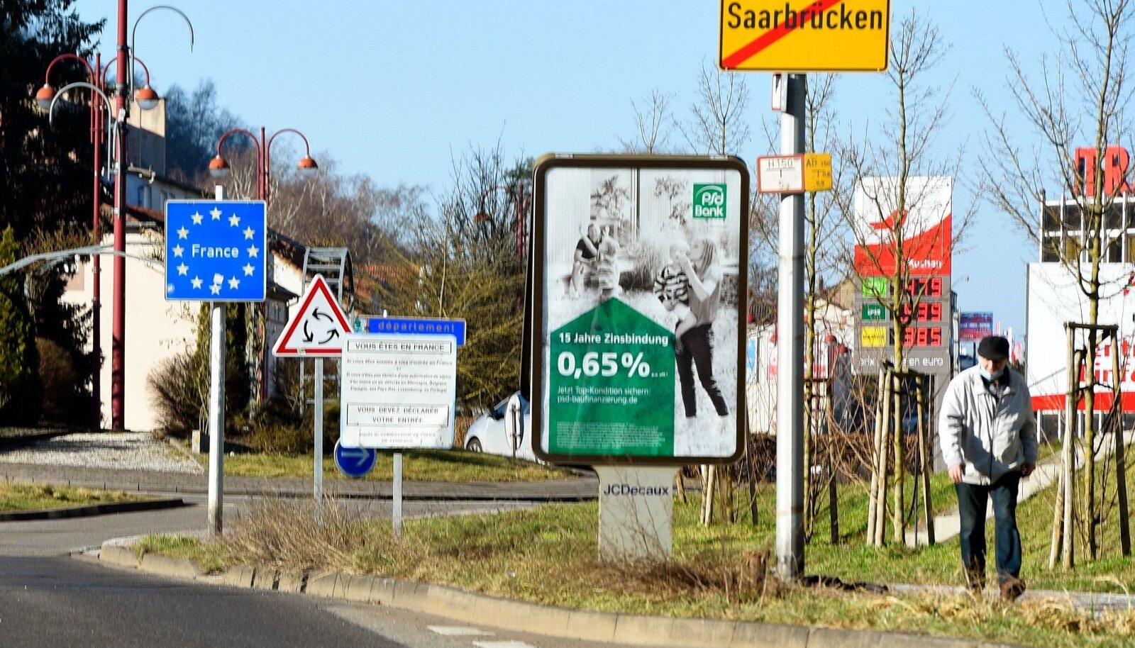 Saksa-Prantsuse piiri ala Saksamaal Saarbrückenis.