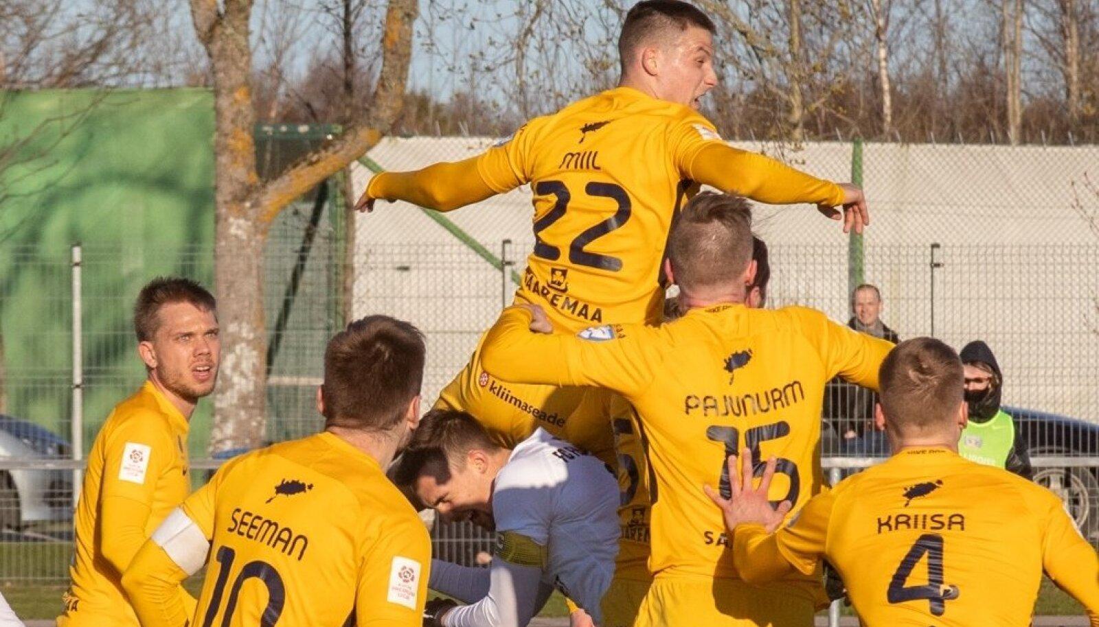 FC Kuressaare mängijad.