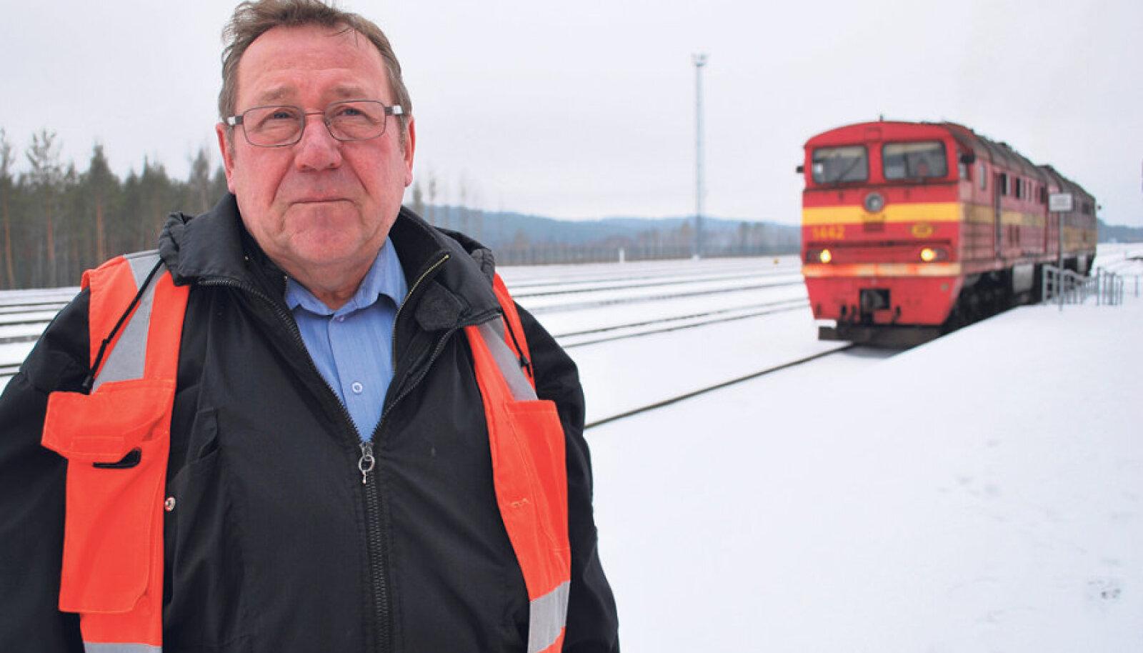 Eesti Raudtee Tartu  piirkonna juhataja  Paul Lupkin on  Koidula piirijaama  tuleviku suhtes  lootusrikas.