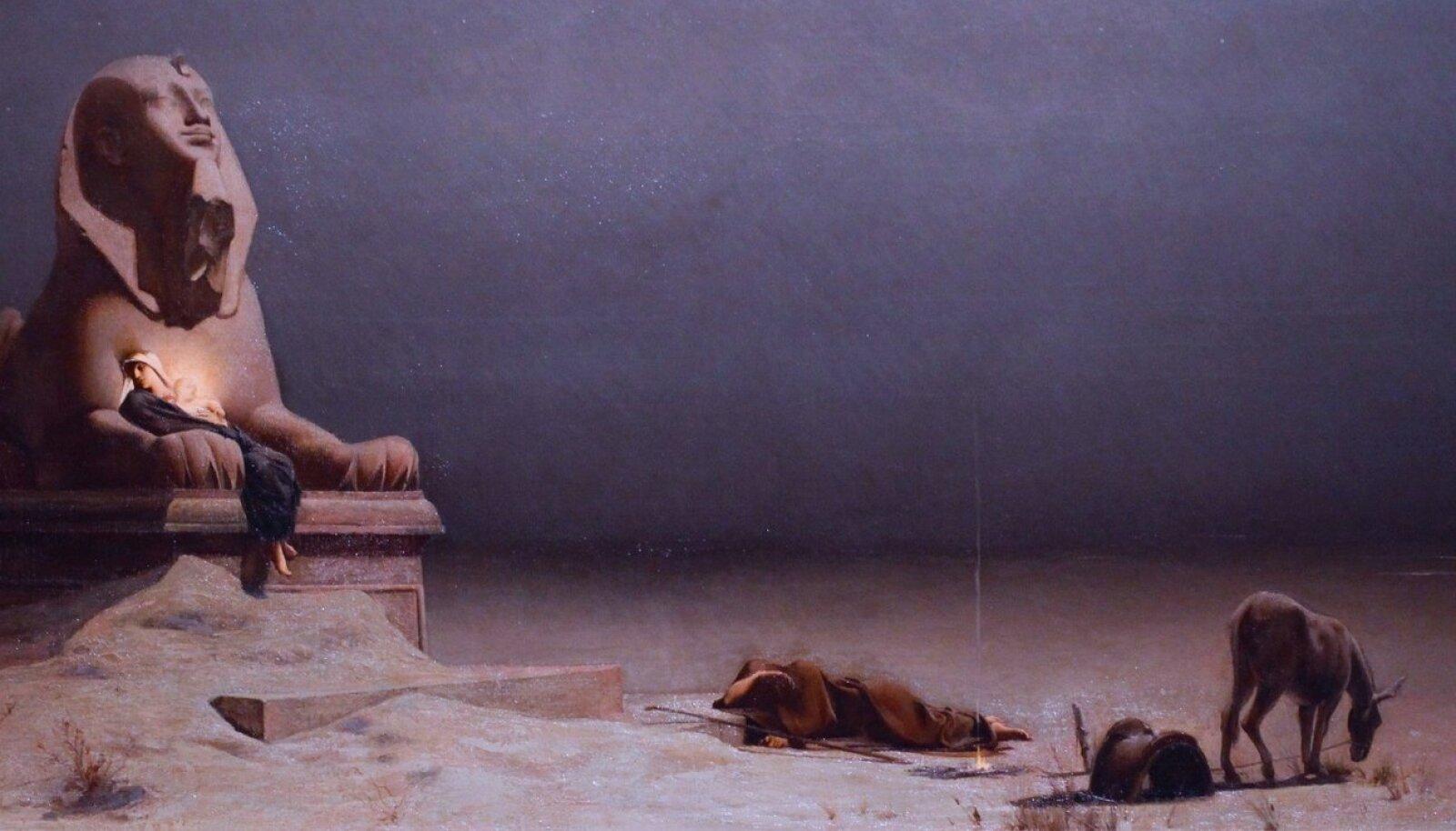 """BEEBI-JEESUS TEEL PAGULUSSE: Matteuse evangeeliumis kirjeldatud põgenemine Egiptusesse on olnud inspiratsiooniks paljudele kunstnikele. Pildil Luc-Olivier Mersoni """"Puhkus teel Egiptusesse"""" (1879)."""