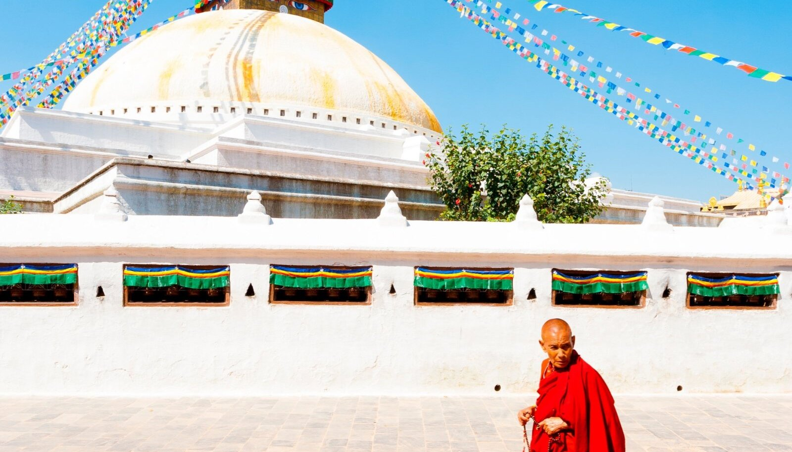 Boudhanathi stuupa Katmandus.