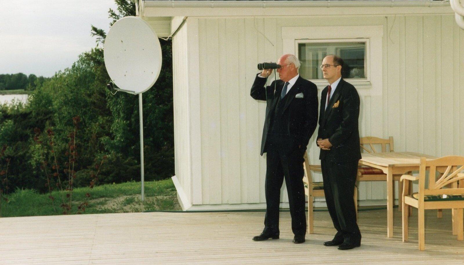President Lennart Meri ja toonane USA asevälisminister Strobe Talbott Viimsis
