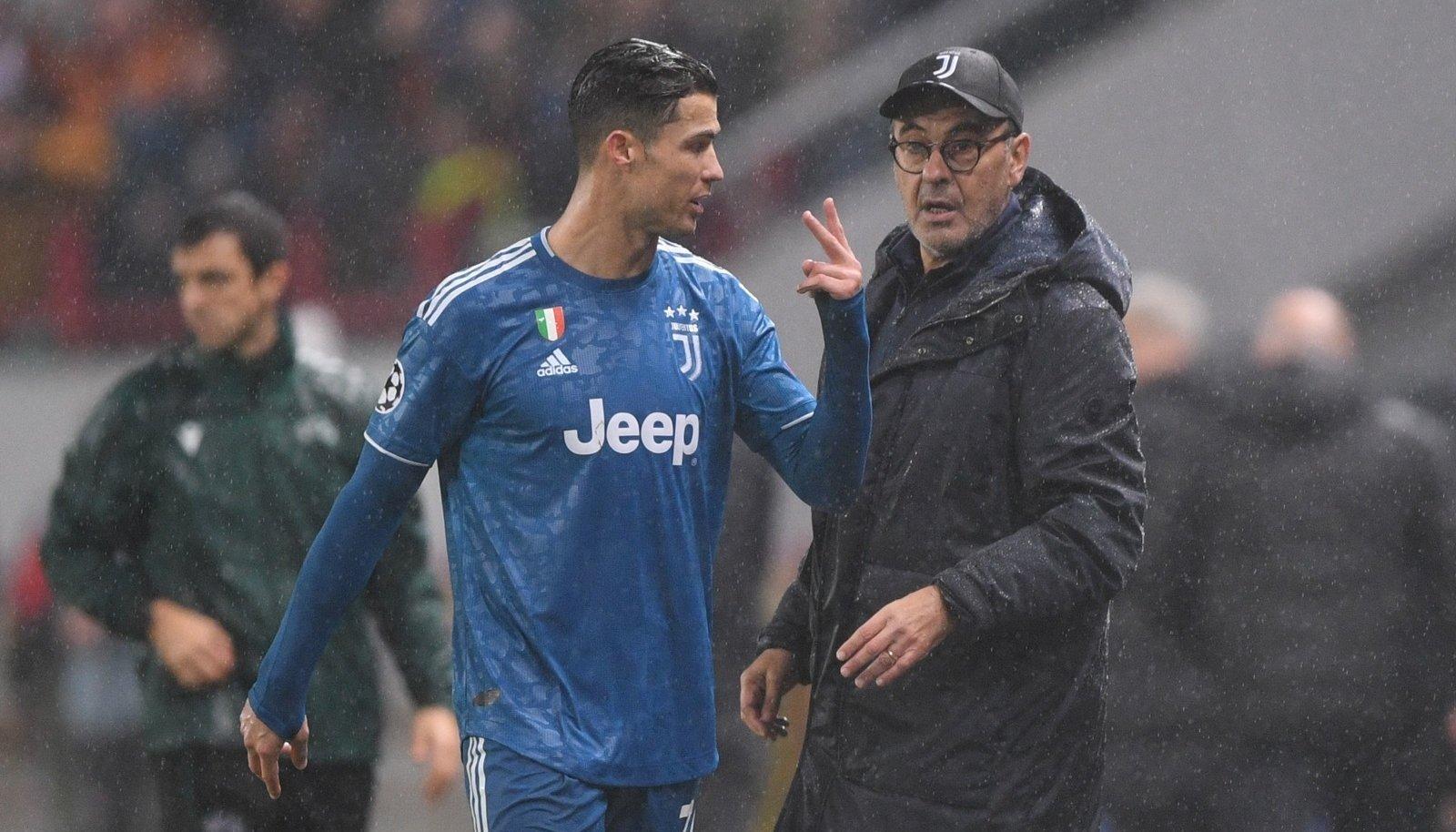 Pingile võetud Cristiano Ronaldo andis Maurizio Sarrile elavalt mõista, et ta ei olnud otsusega rahul.