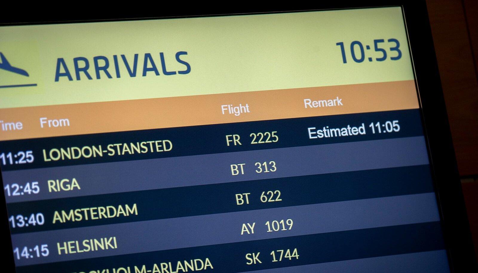 Viimane lend Londonist Tallinna 21. detsembril