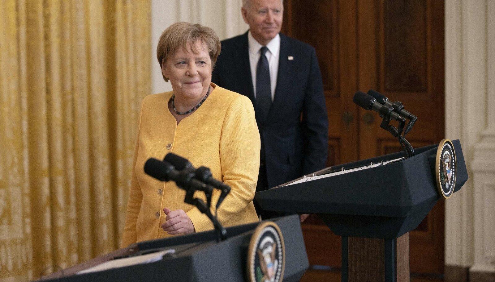 Saksamaa liidukantsler Angela Merkel ja USA president Joe Biden ülemöödunud nädalal Washingtonis