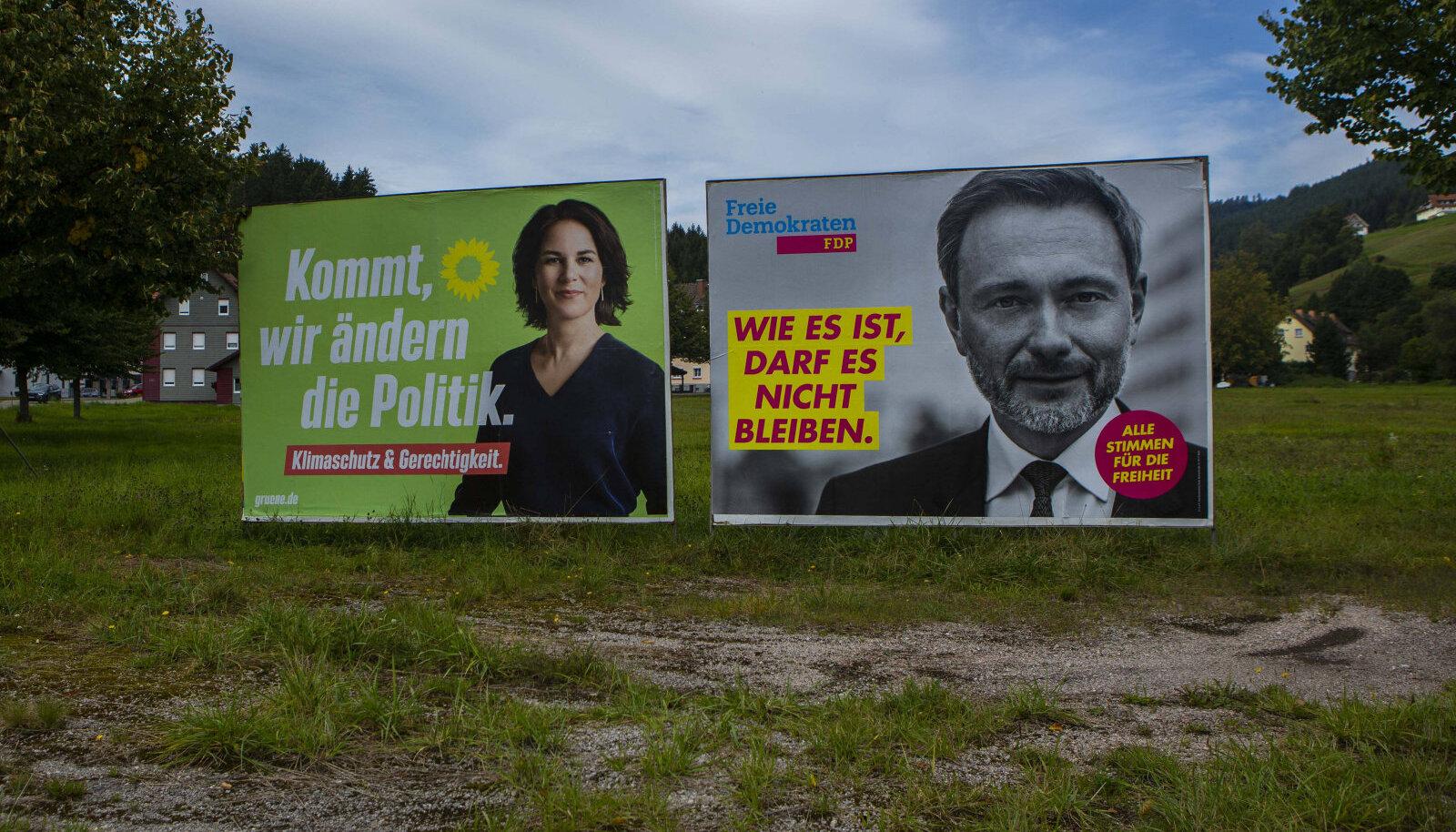 Roheliste juhi Annalena Baerbocki ja FDP esimehe Christian Lindneri valimisreklaam