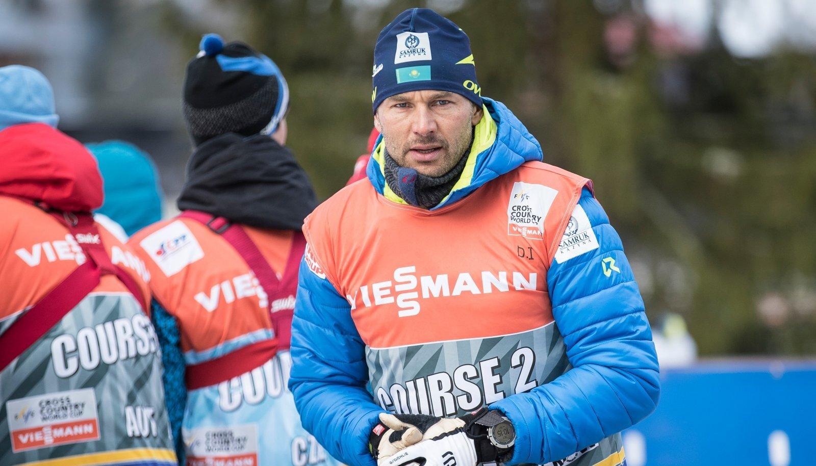 Andrus Veerpalu Kasahstani koondise värvides.