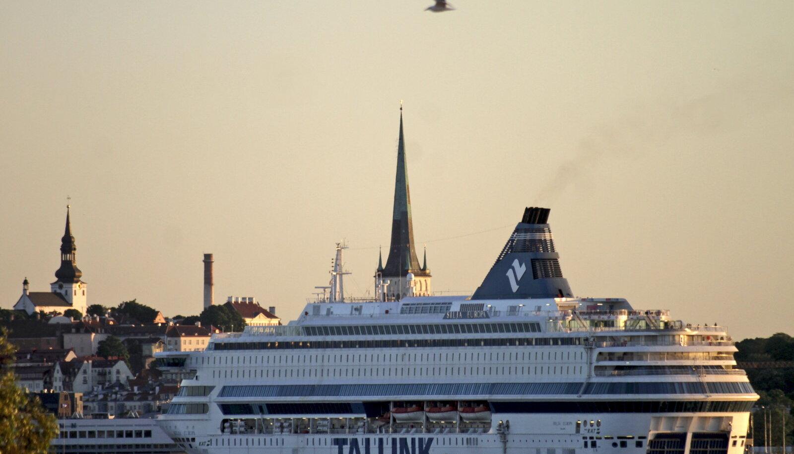 Tallinki laev. Pilt on illustreeriv.